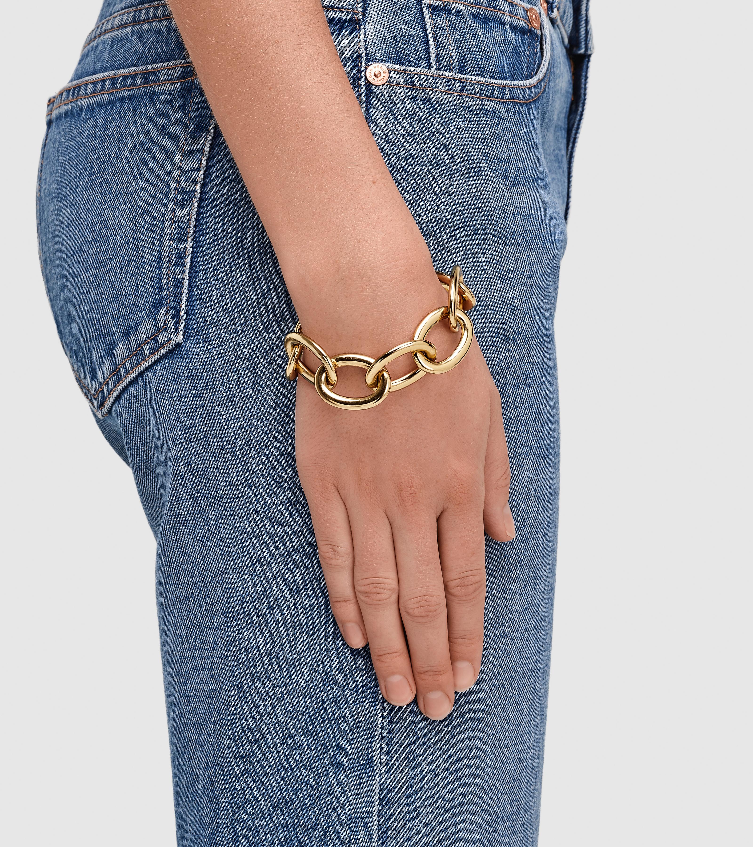 Chunky Link Bracelet Gold
