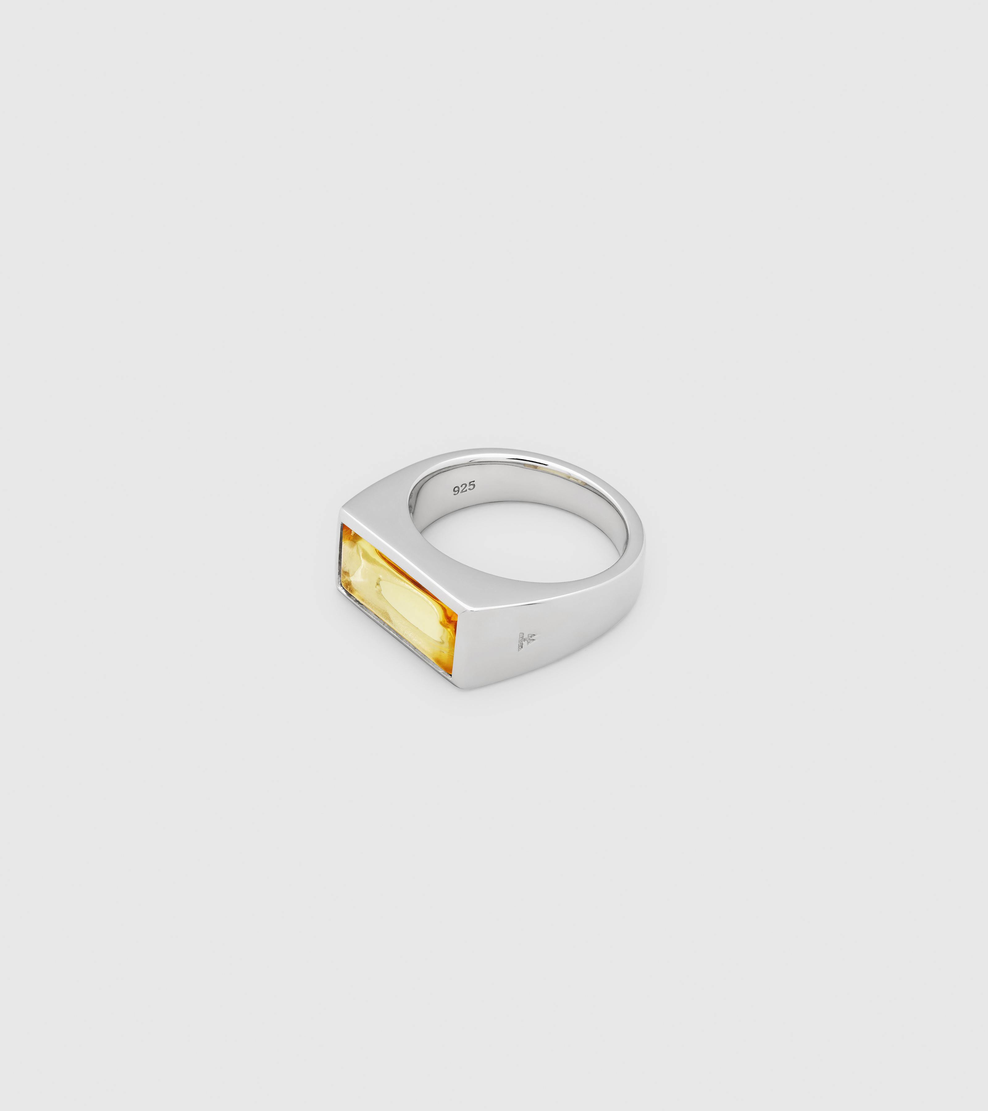 Peaky Ring Orange Amber