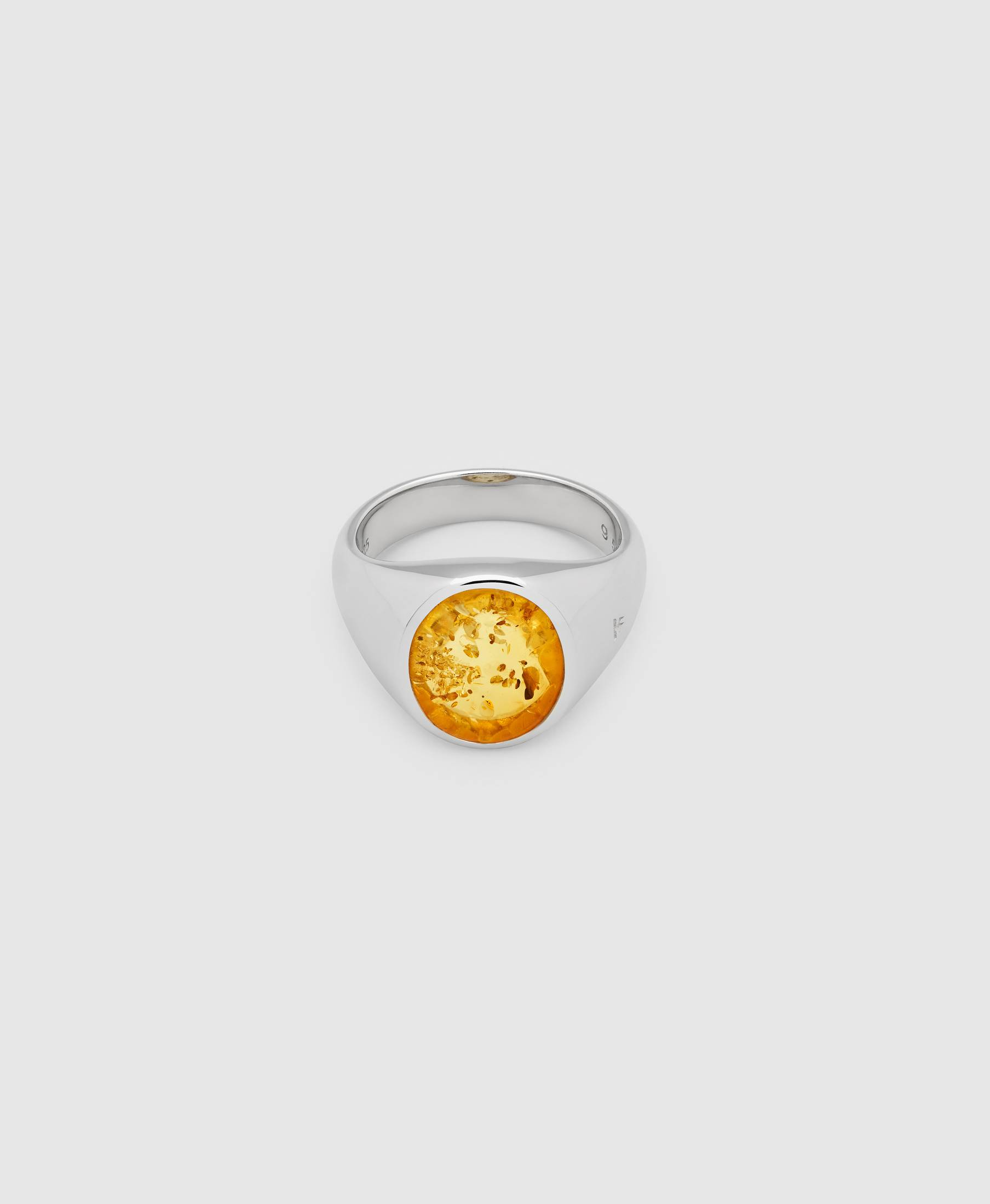 Lizzie Ring Orange Amber