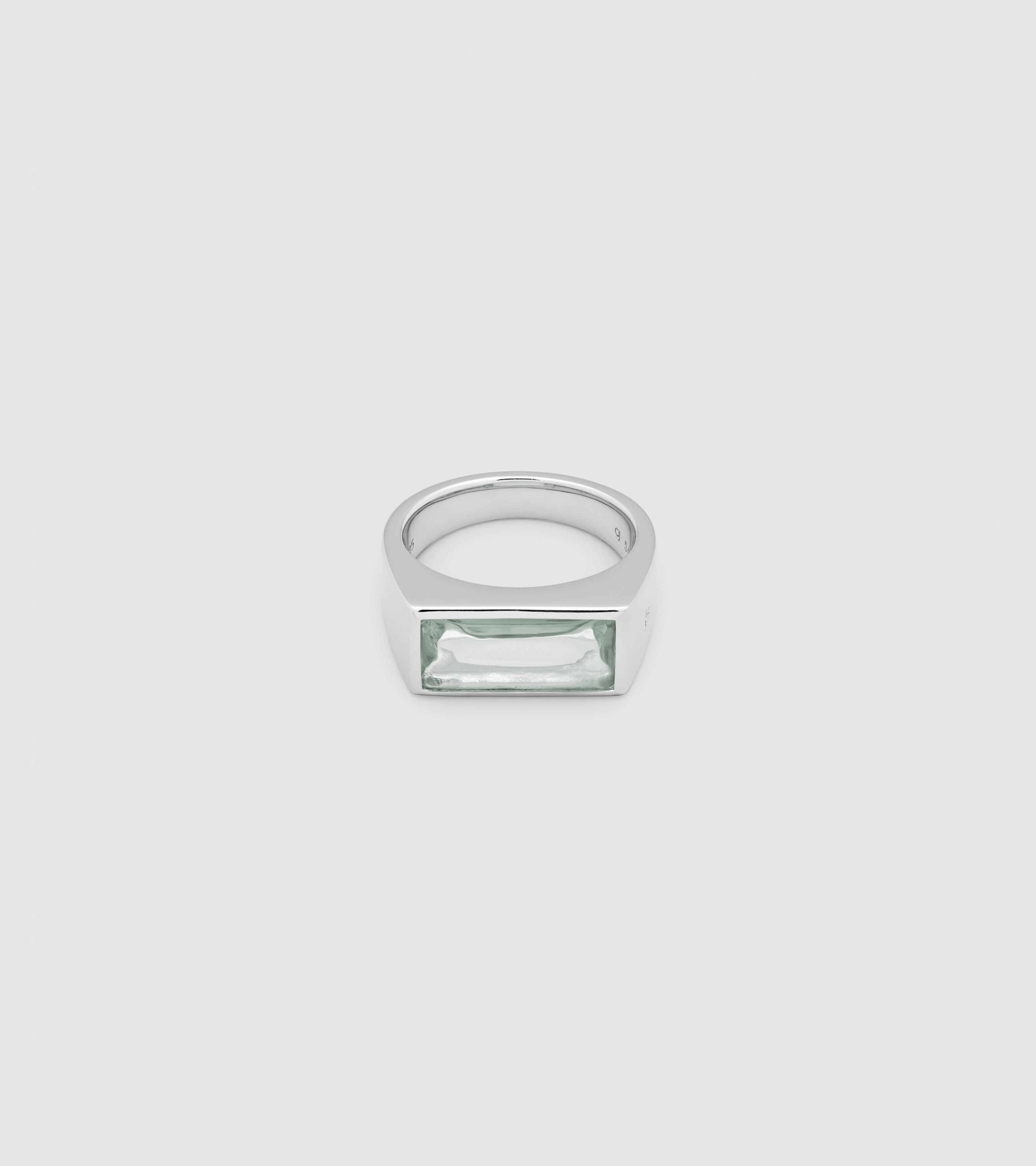 Peaky Ring Green Quartz