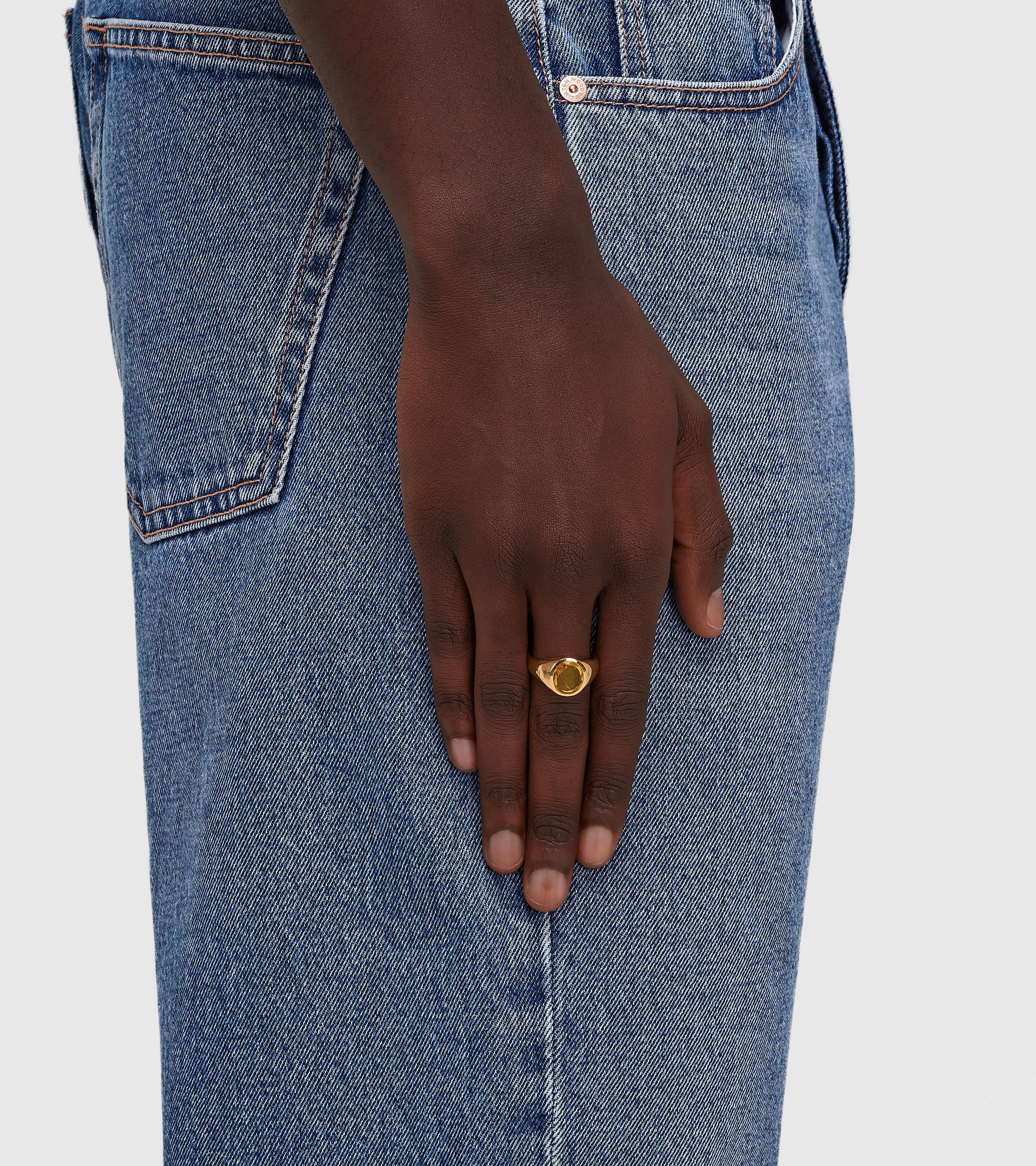 Lizzie Ring Orange Amber Gold