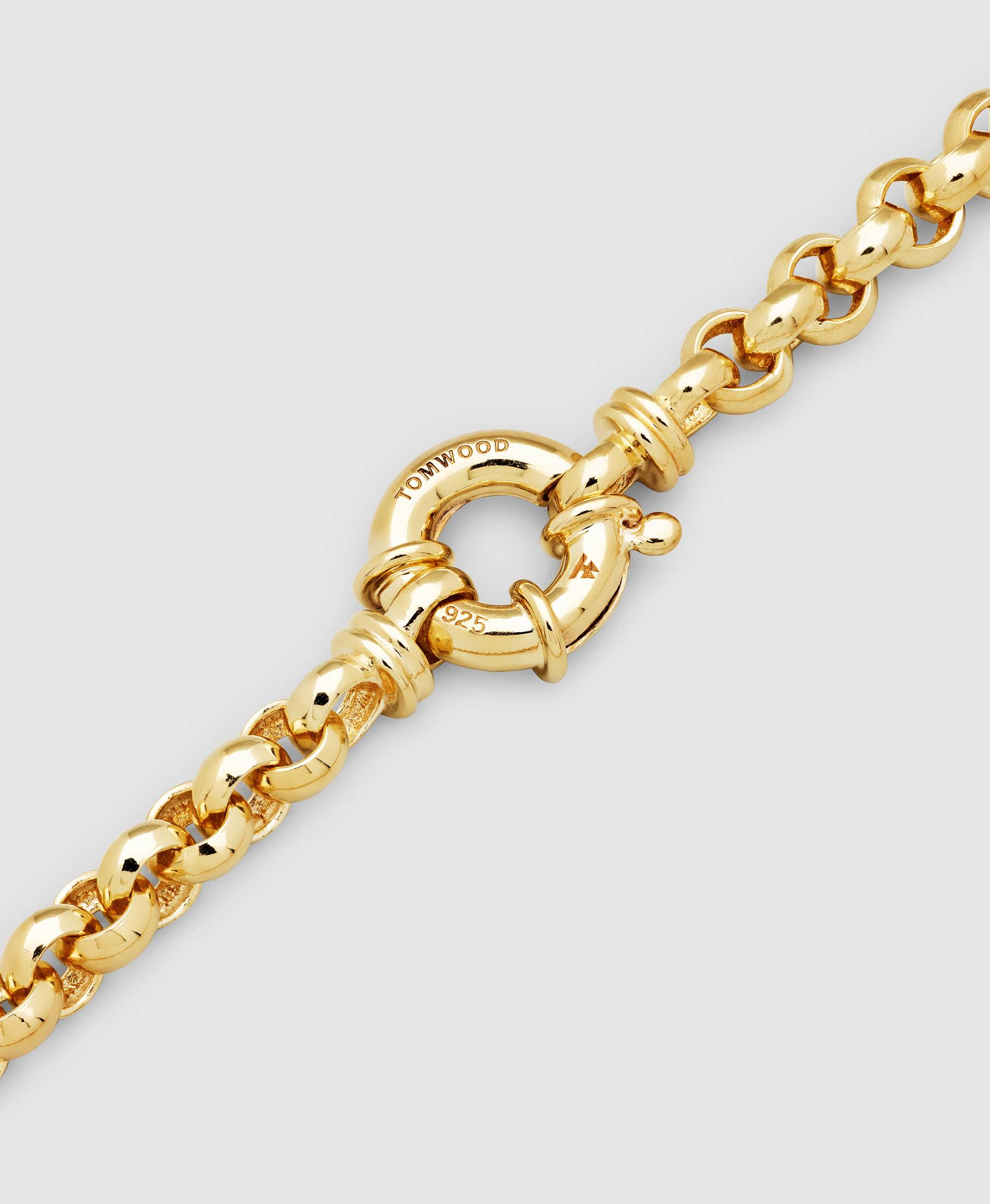 Thick Rolo Bracelet Gold
