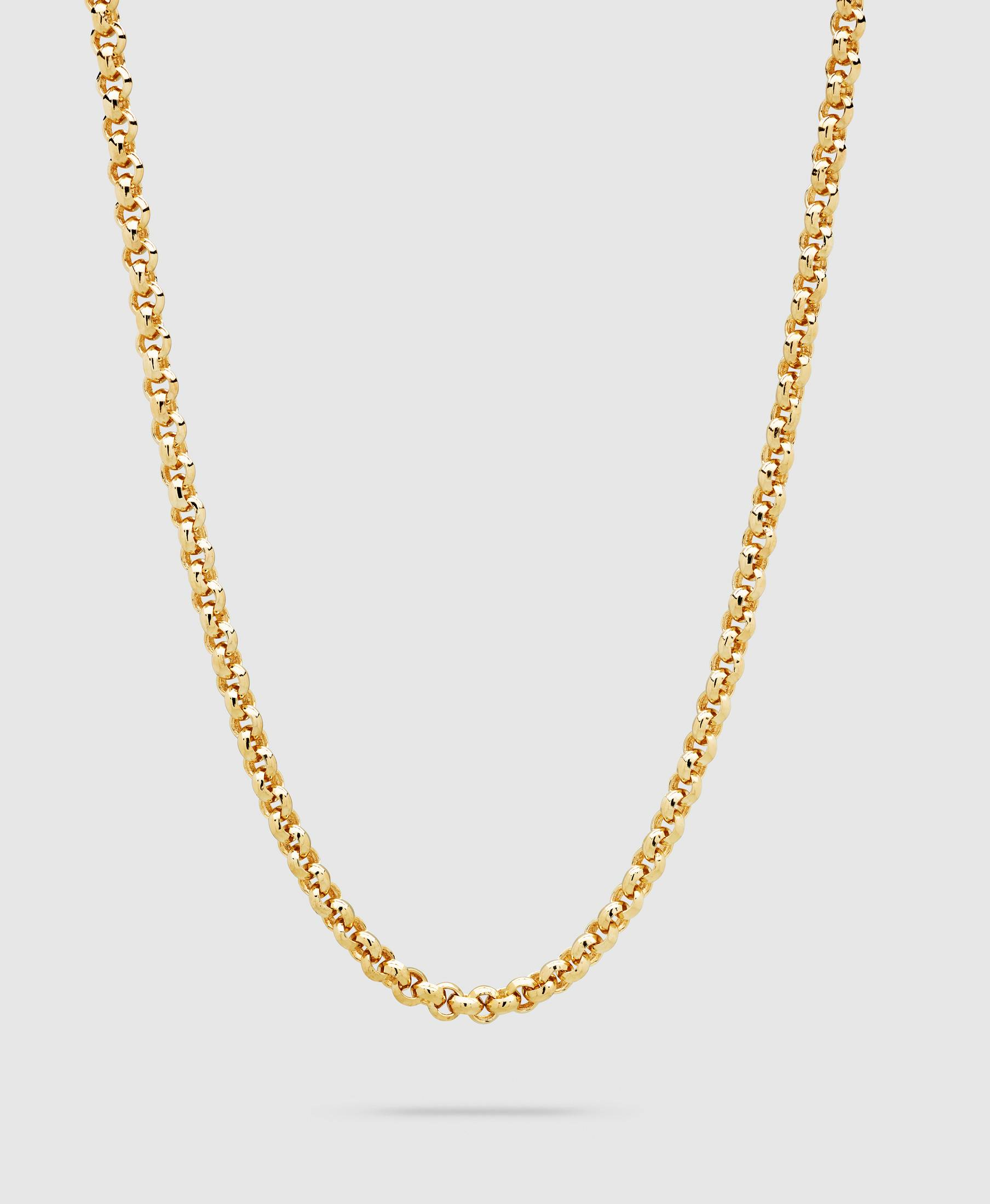Thick Rolo Chain Gold