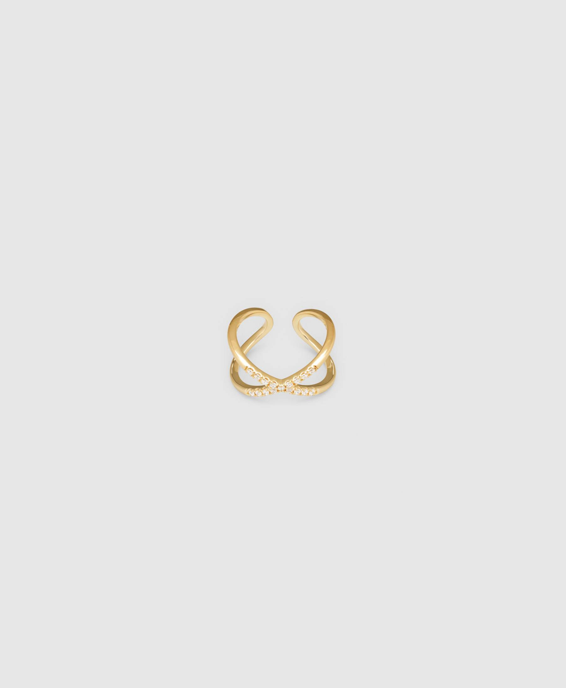 X Ring Zirconia Gold