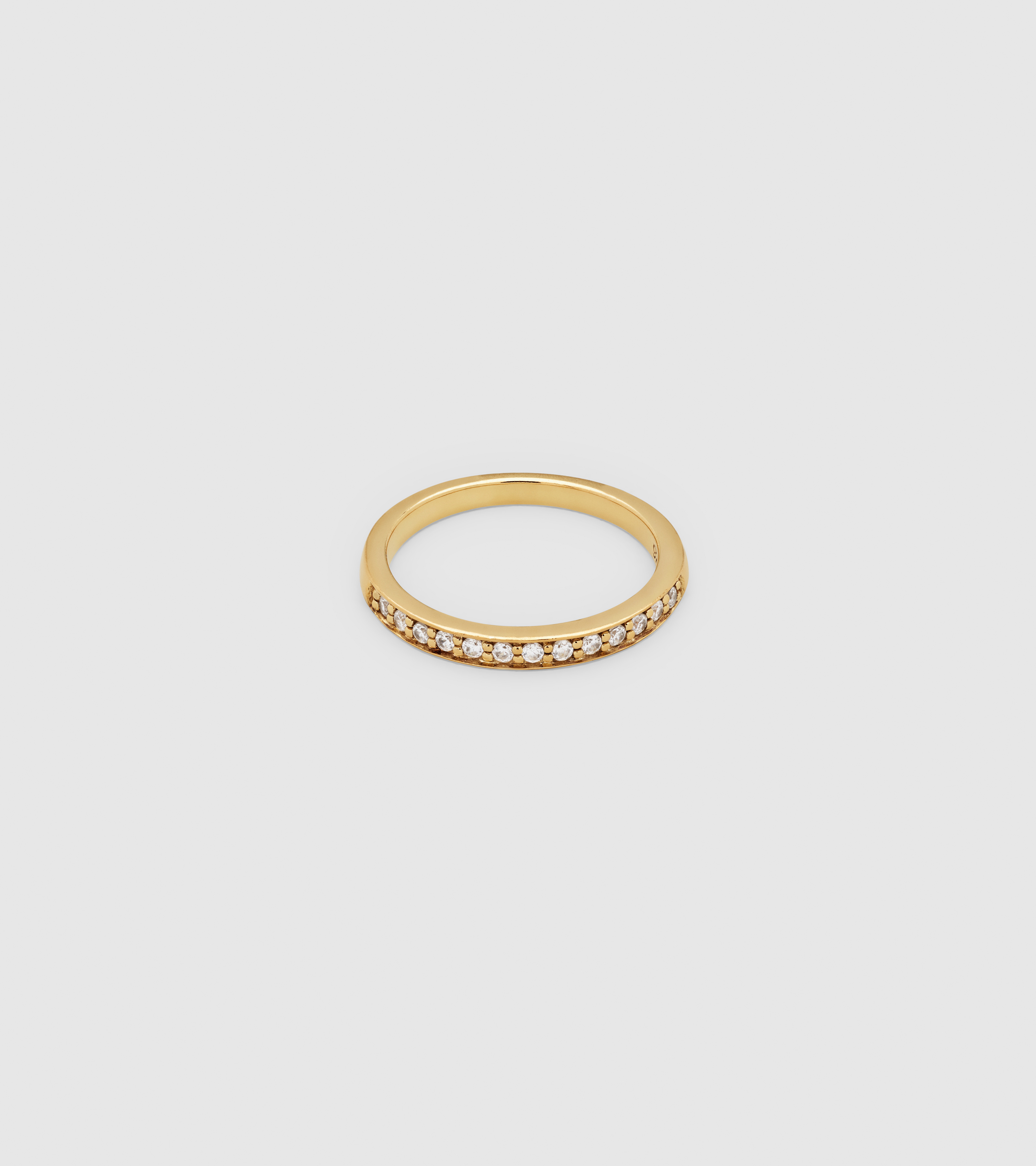 O Ring Zirconia Gold