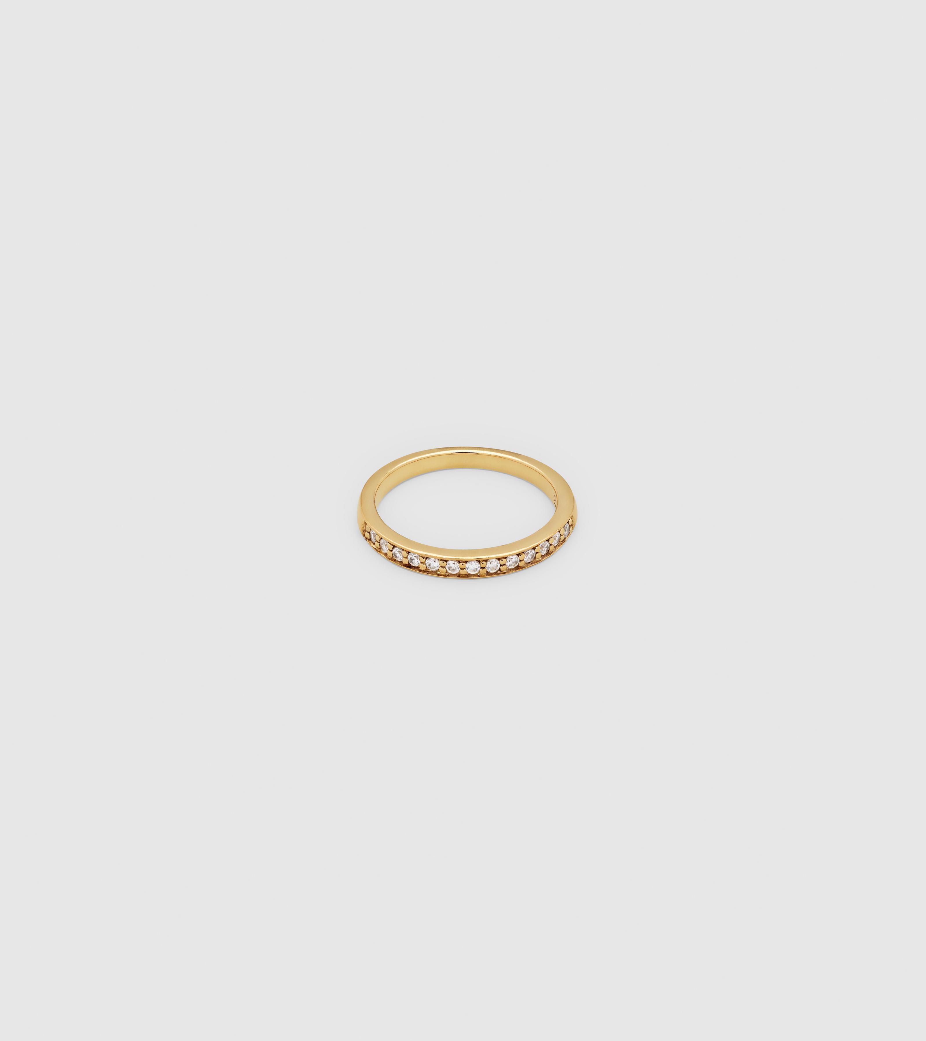 O Ring Zirconia Gold