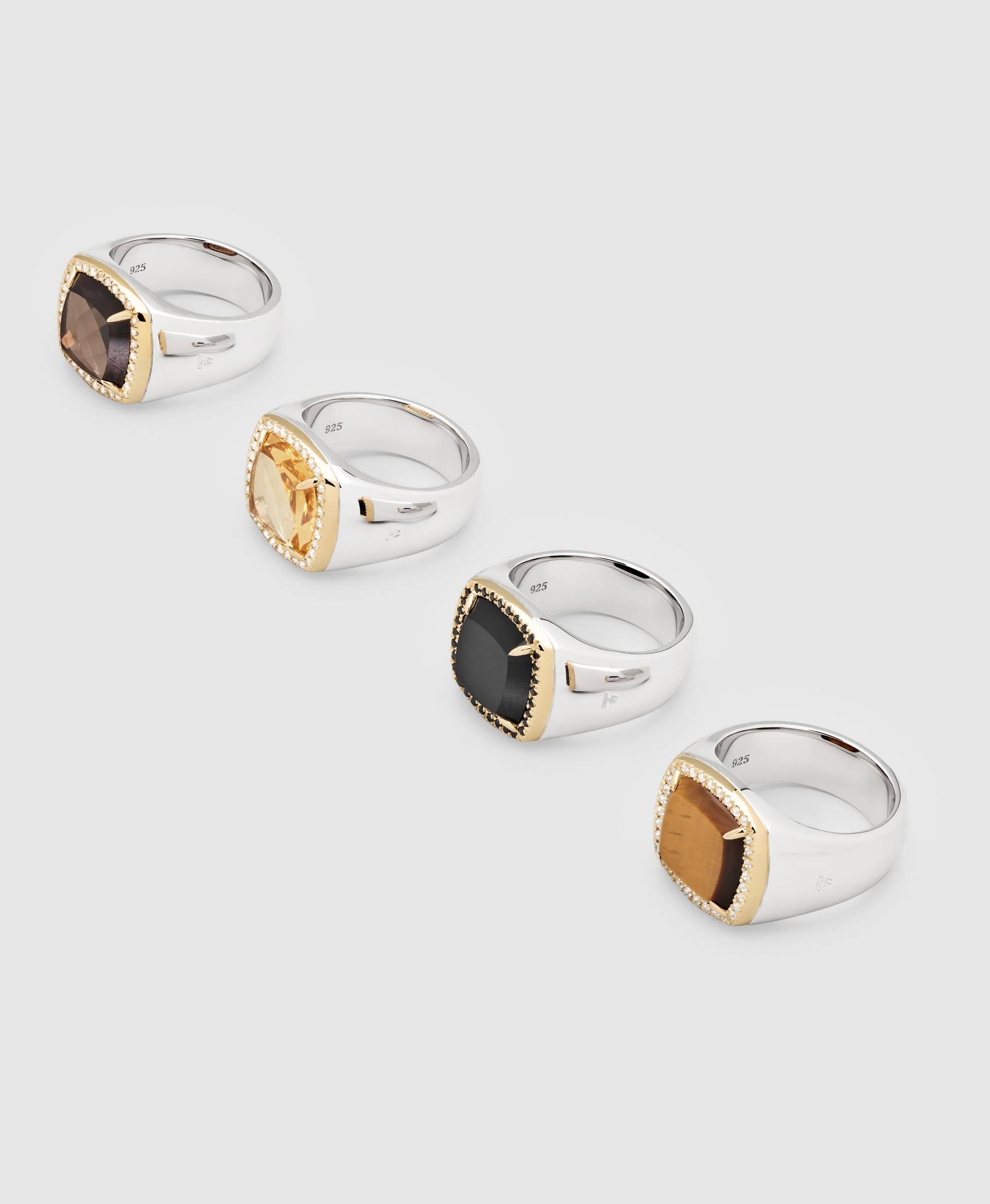 May Ring Smoky Quarts Diamond