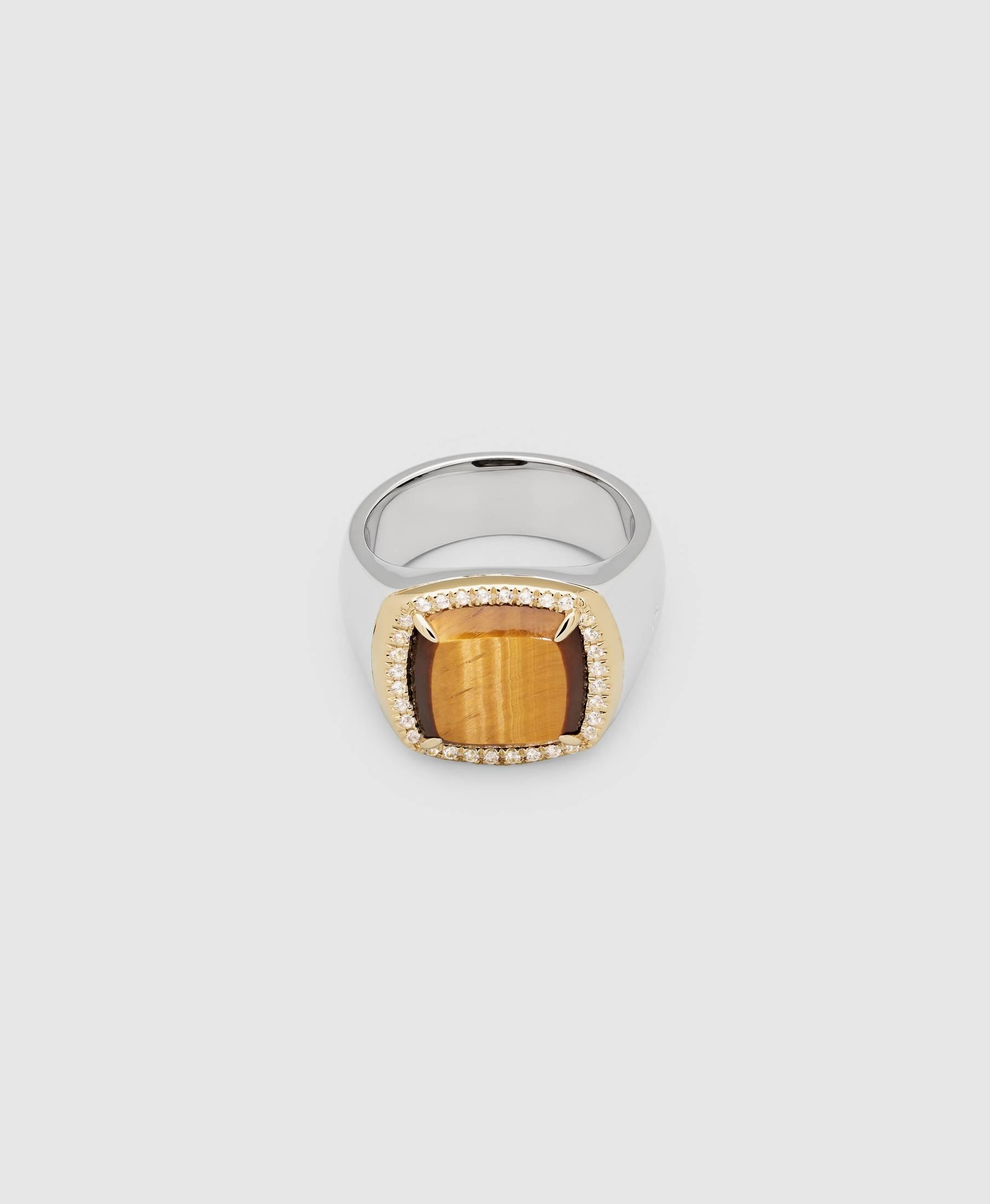 May Ring Tiger Eye Diamond