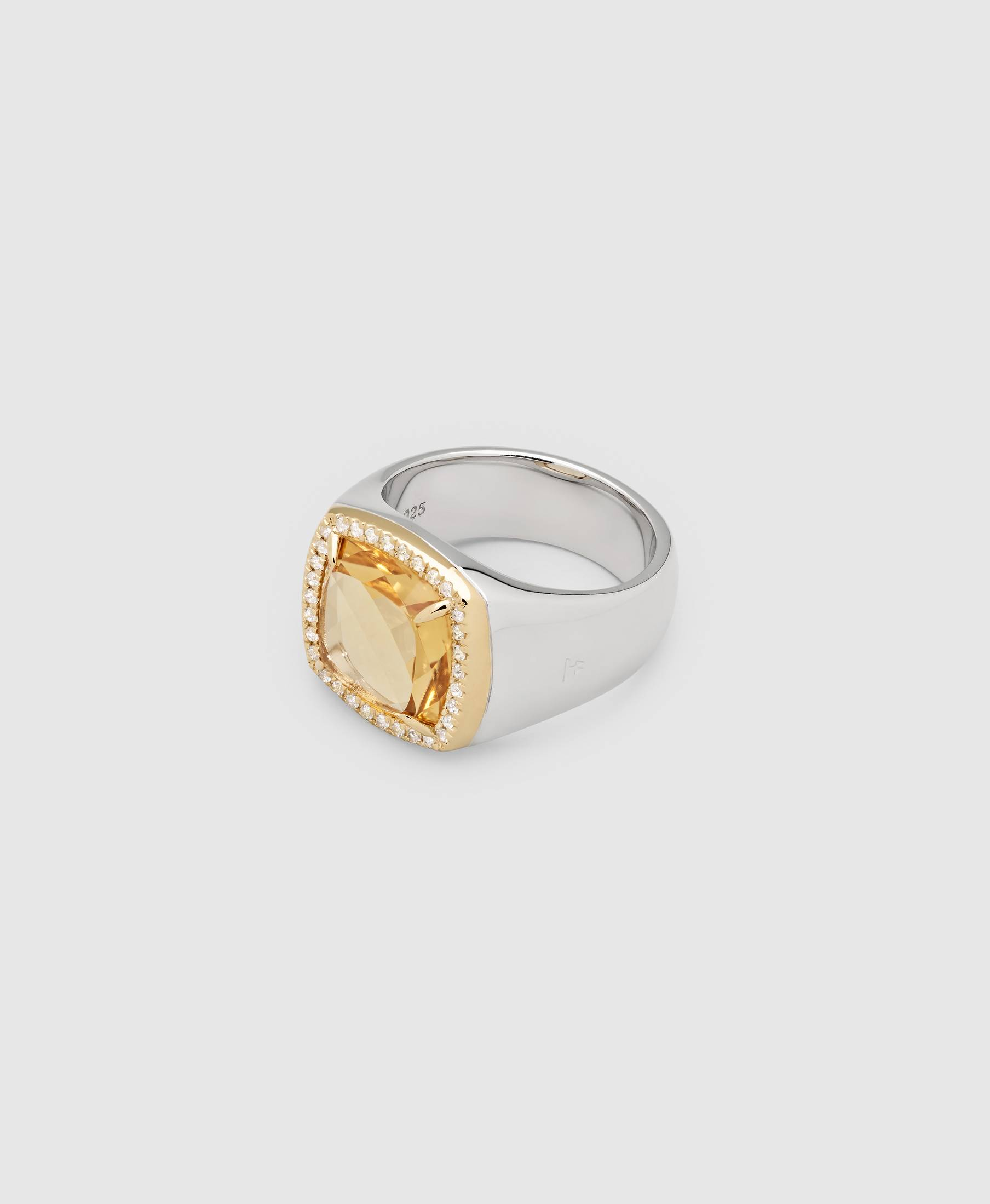 May Ring Citrine Diamond