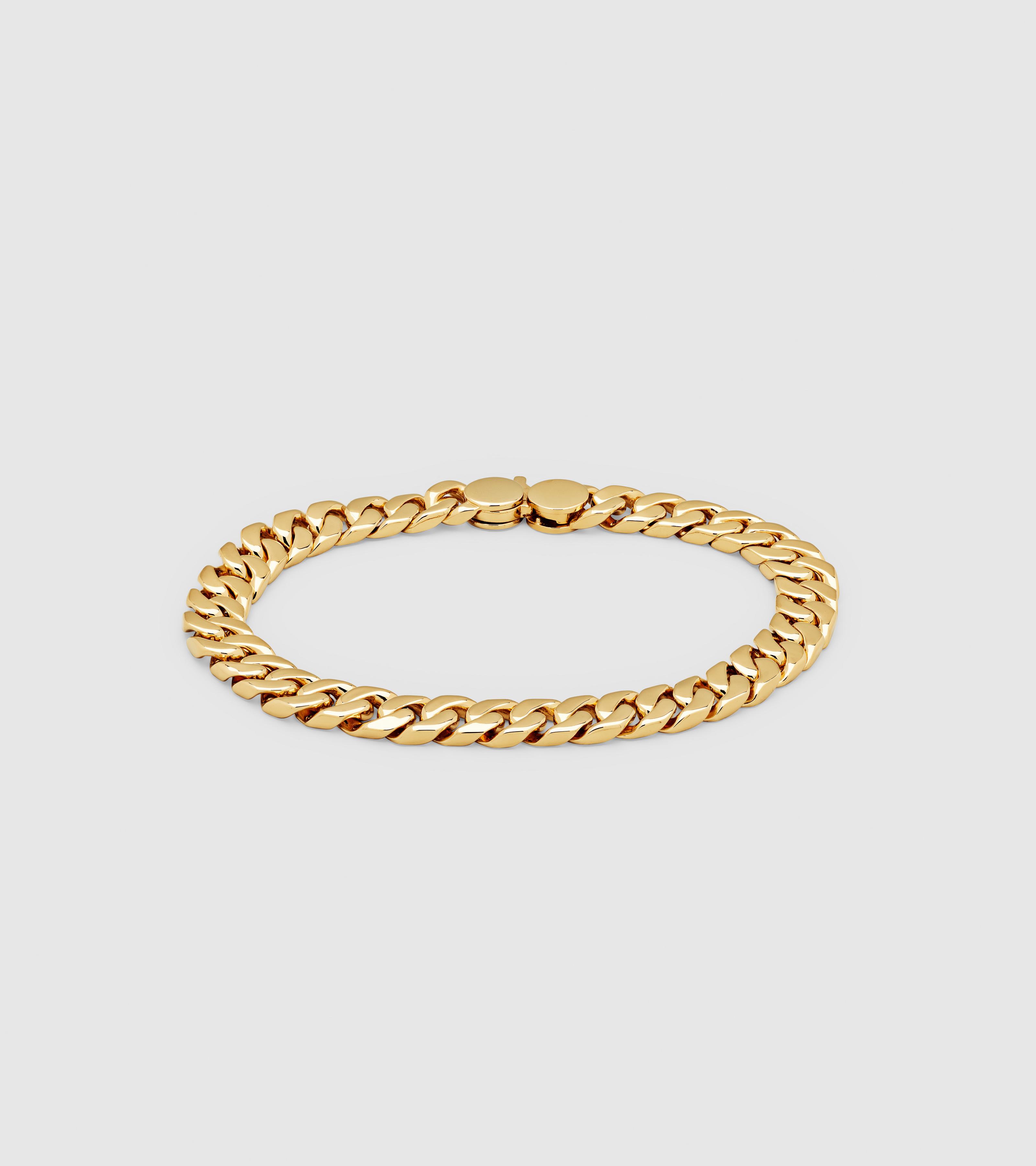 Curb Bracelet Seven Gold