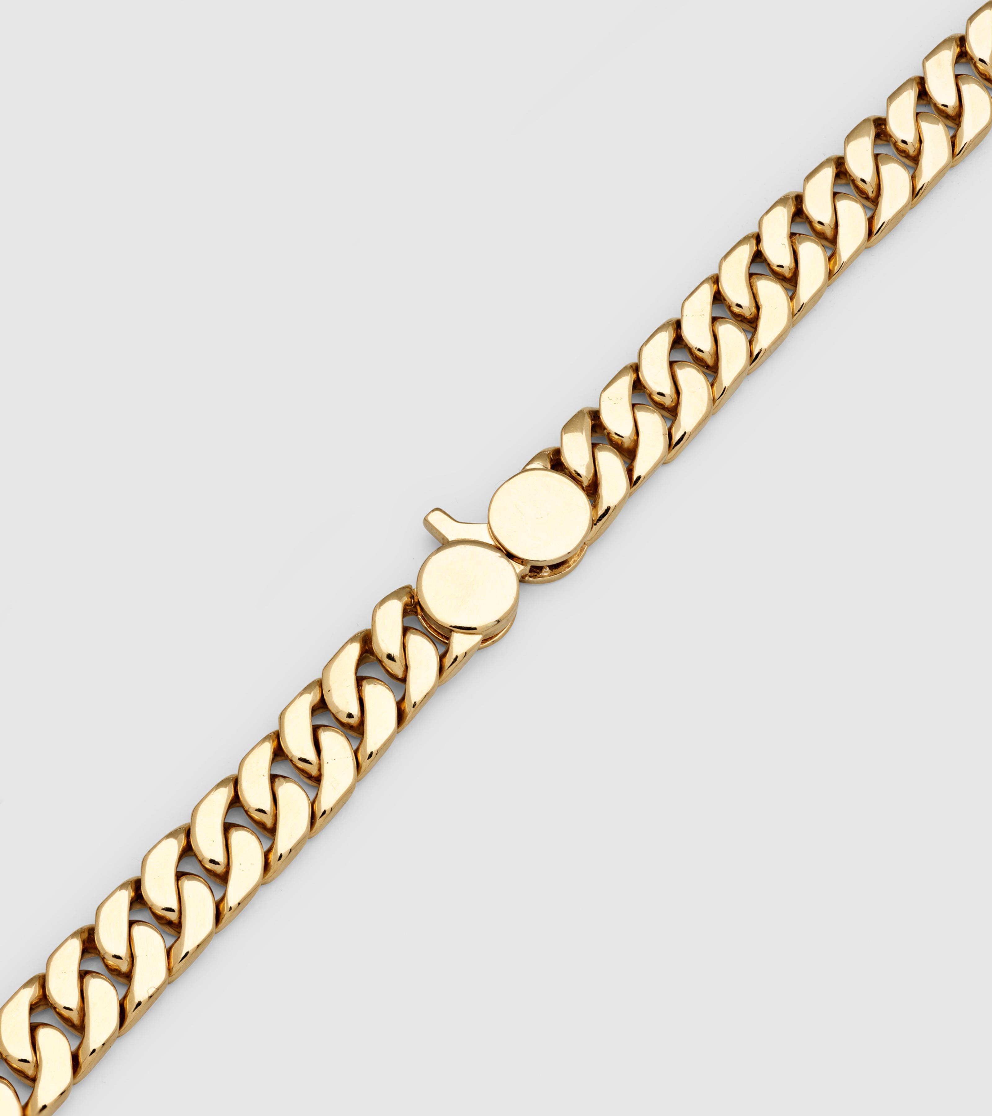 Curb 7 Bracelet Gold