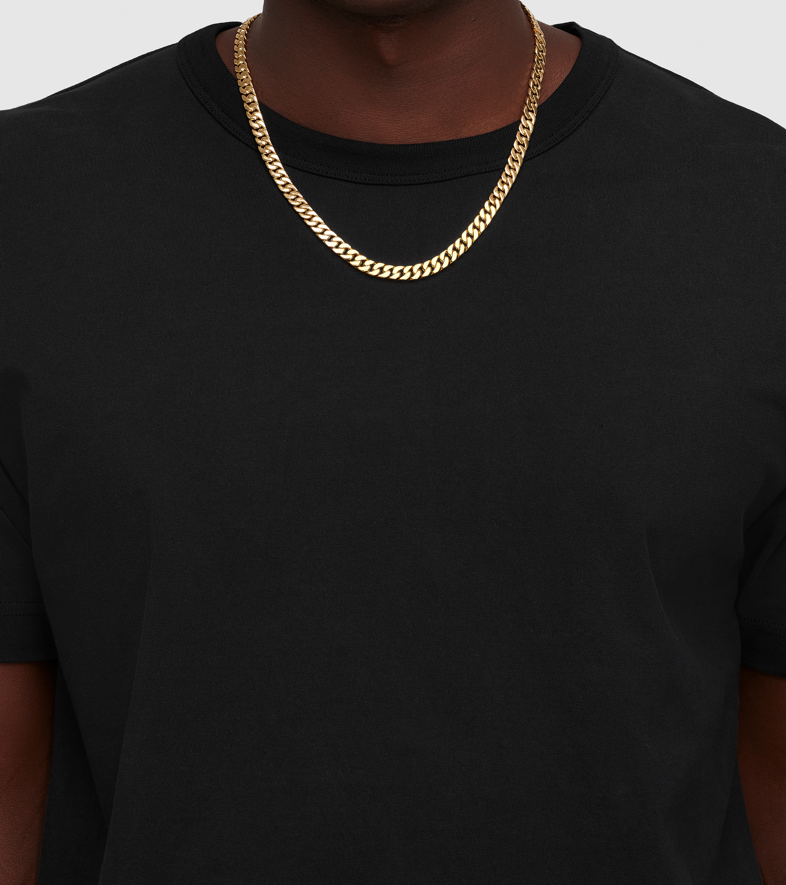 Curb 7 Chain Gold
