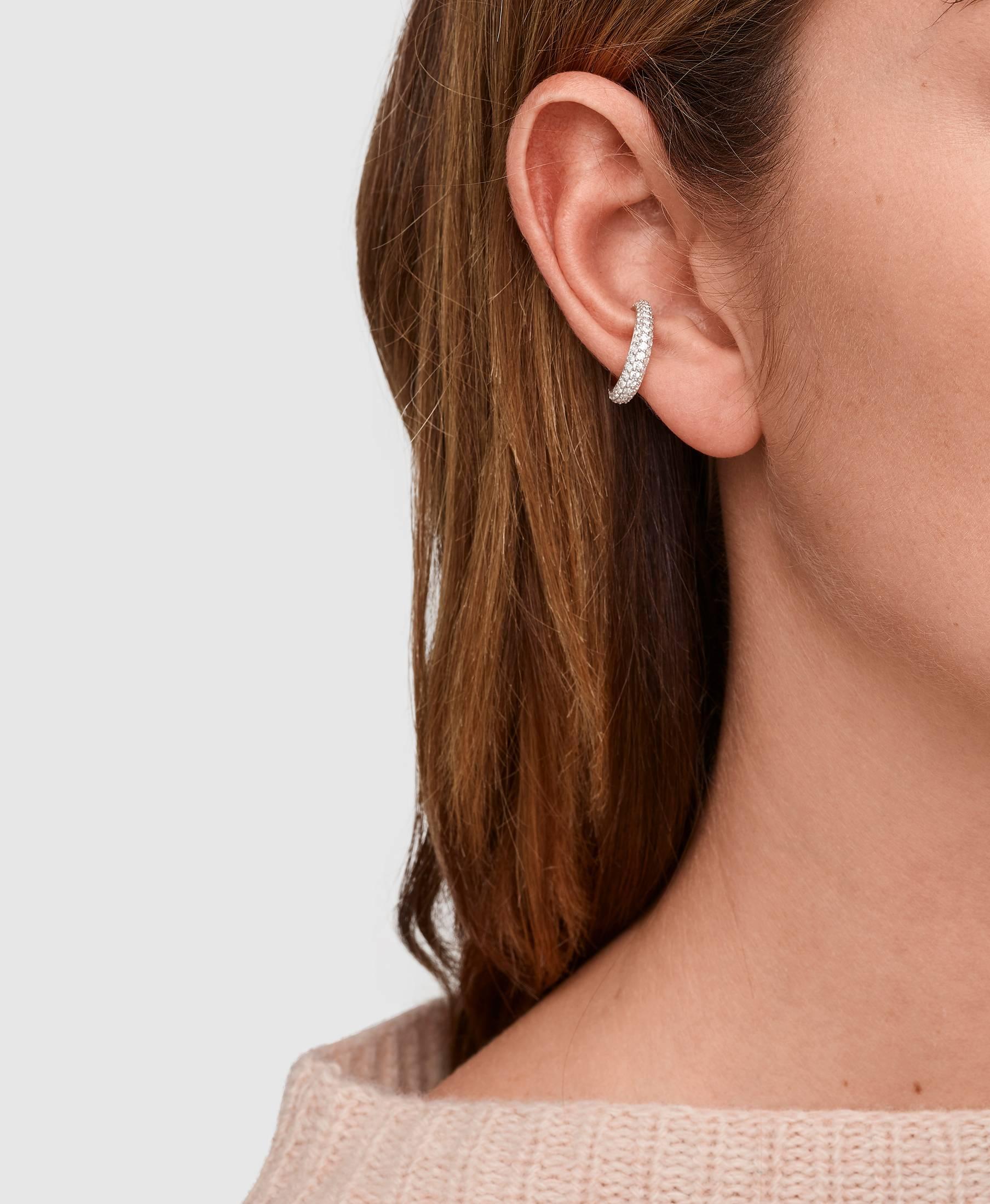Ear Cuff Slim Zirconia Gold