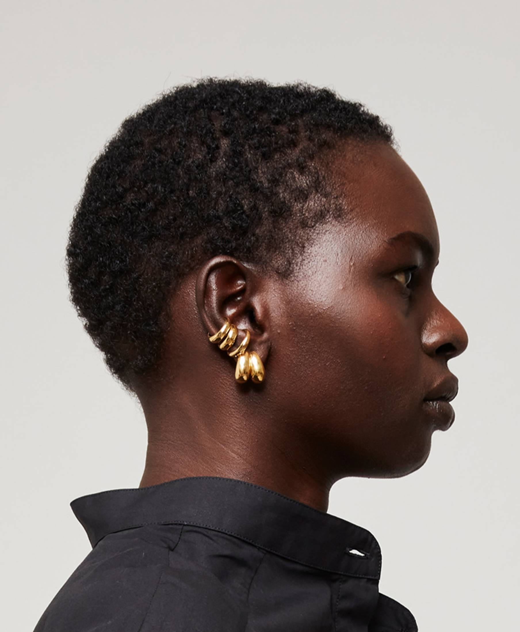 Ear Cuff Thick Gold