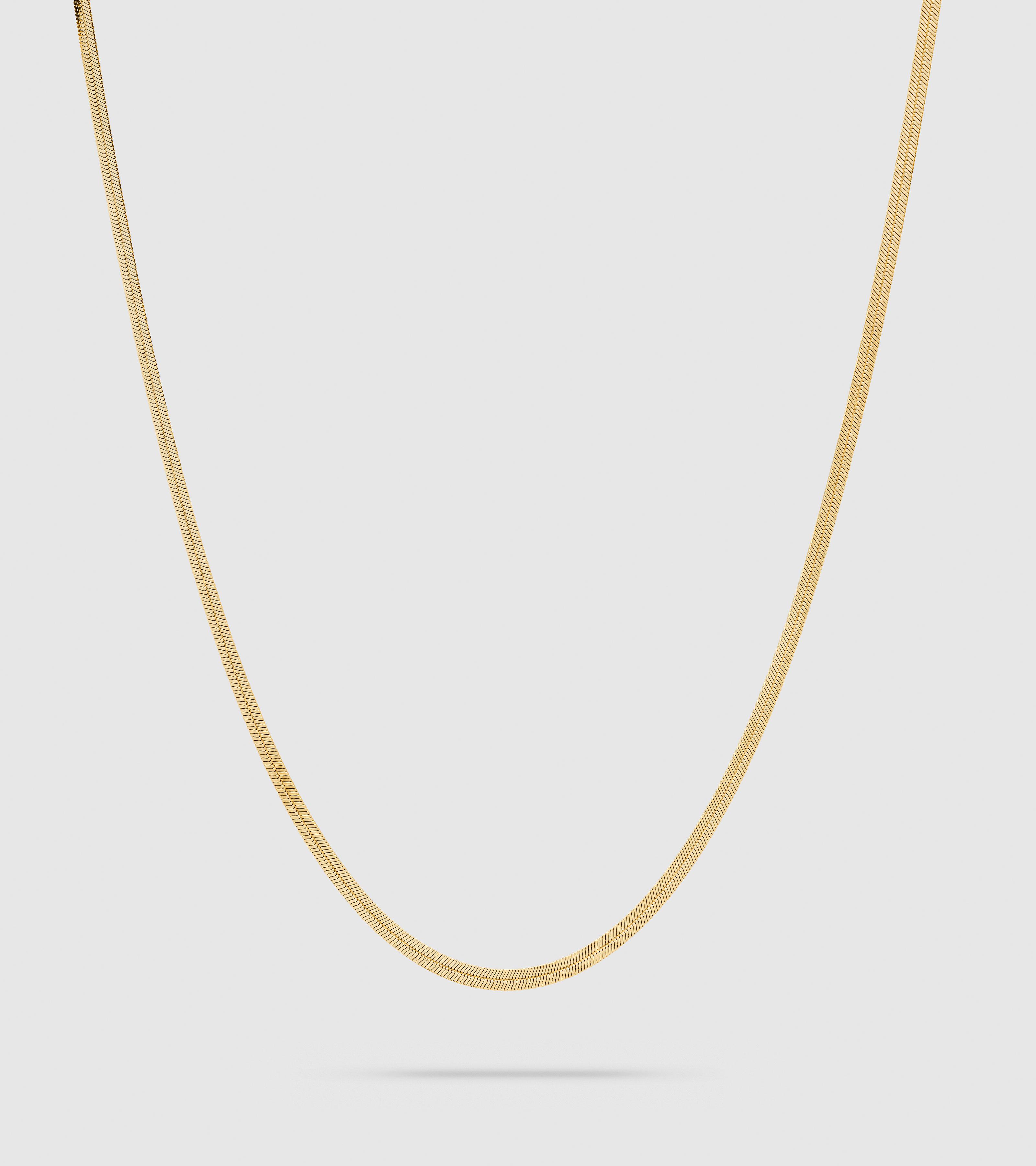 Herringbone Chain Gold