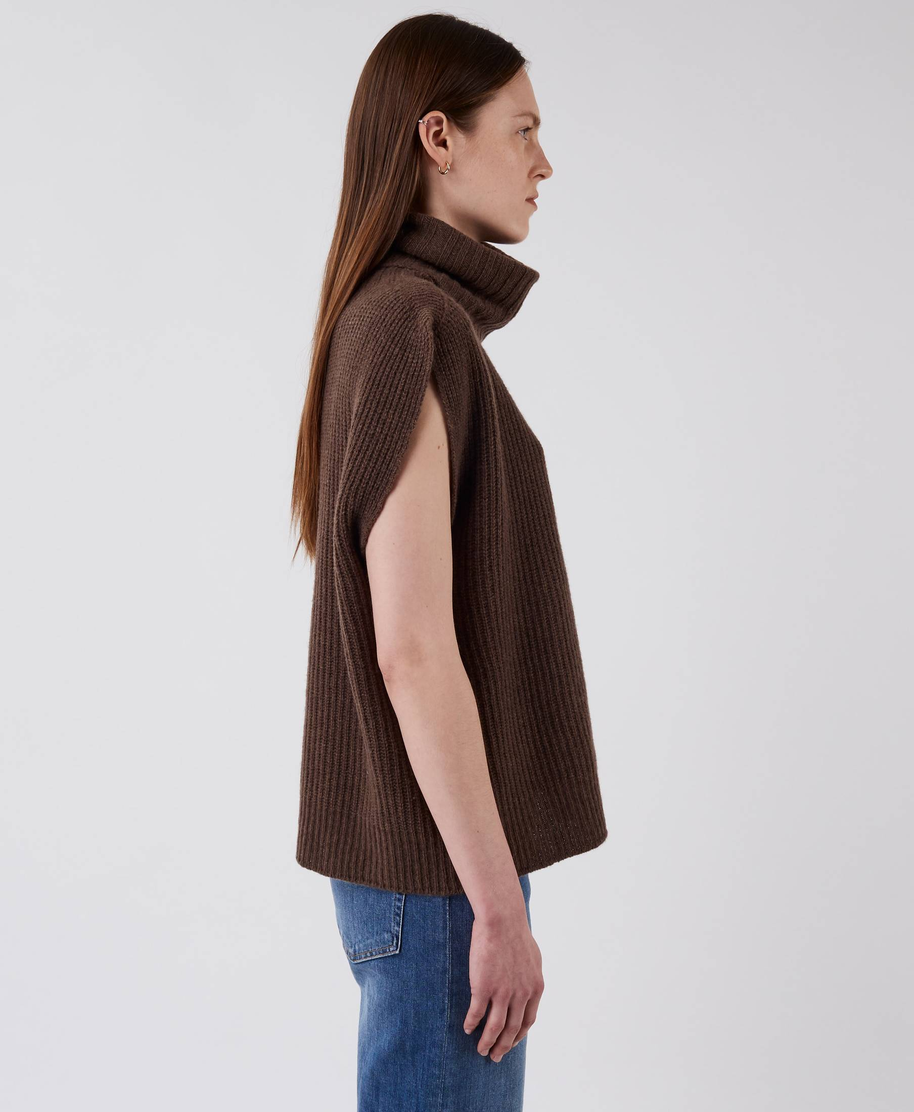 Airy Vest Wood Brown