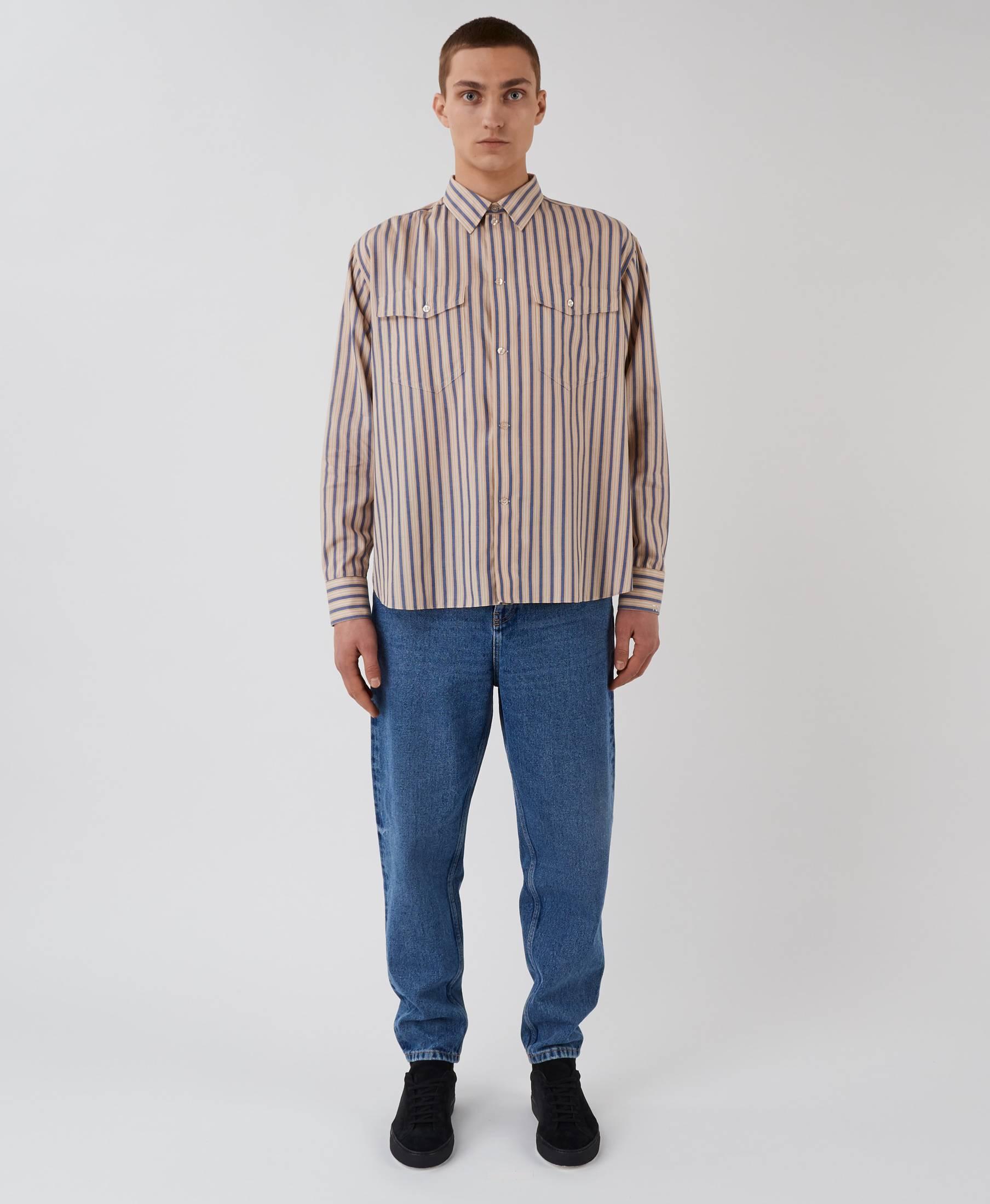 Monday Shirt Blue Stripes