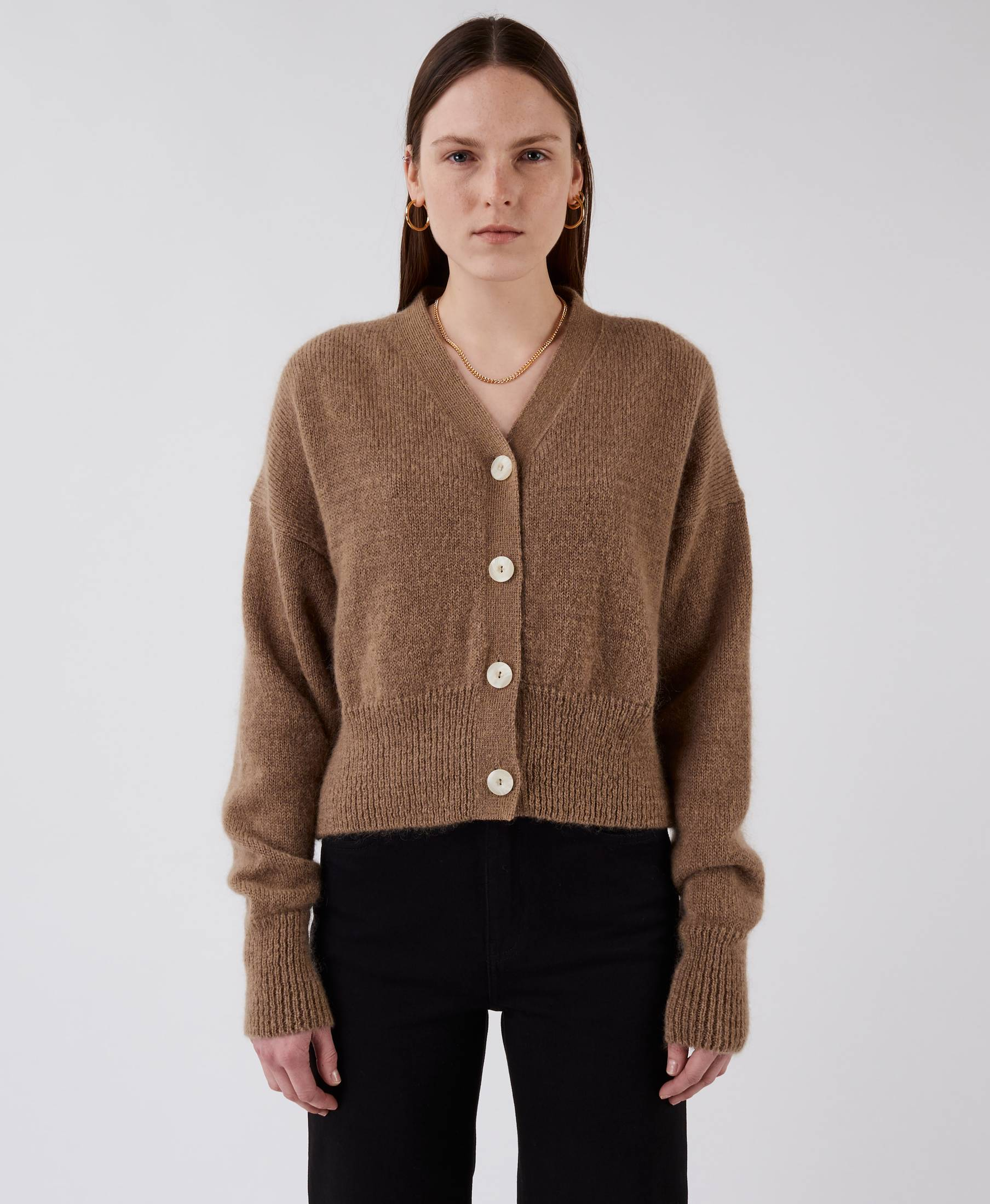 On and On Cardigan Camel