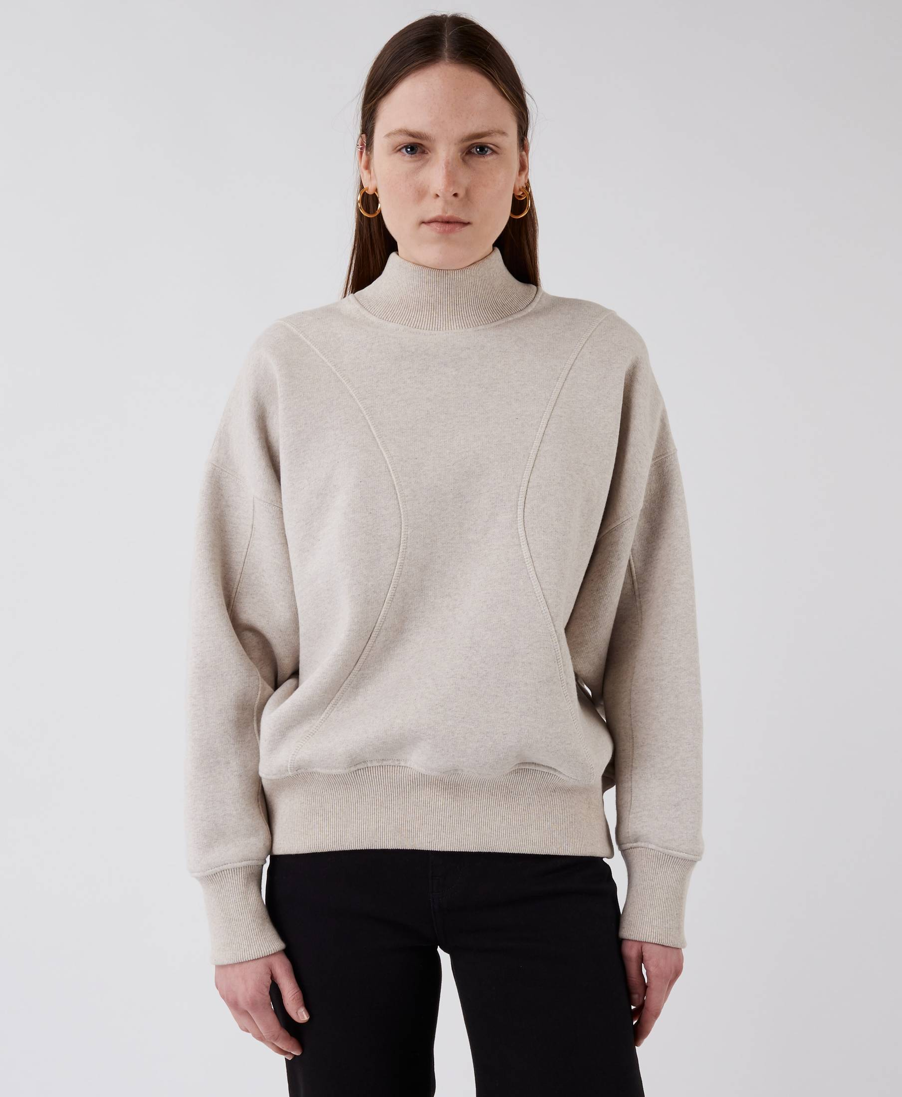 The Wind Sweater Beige Melange