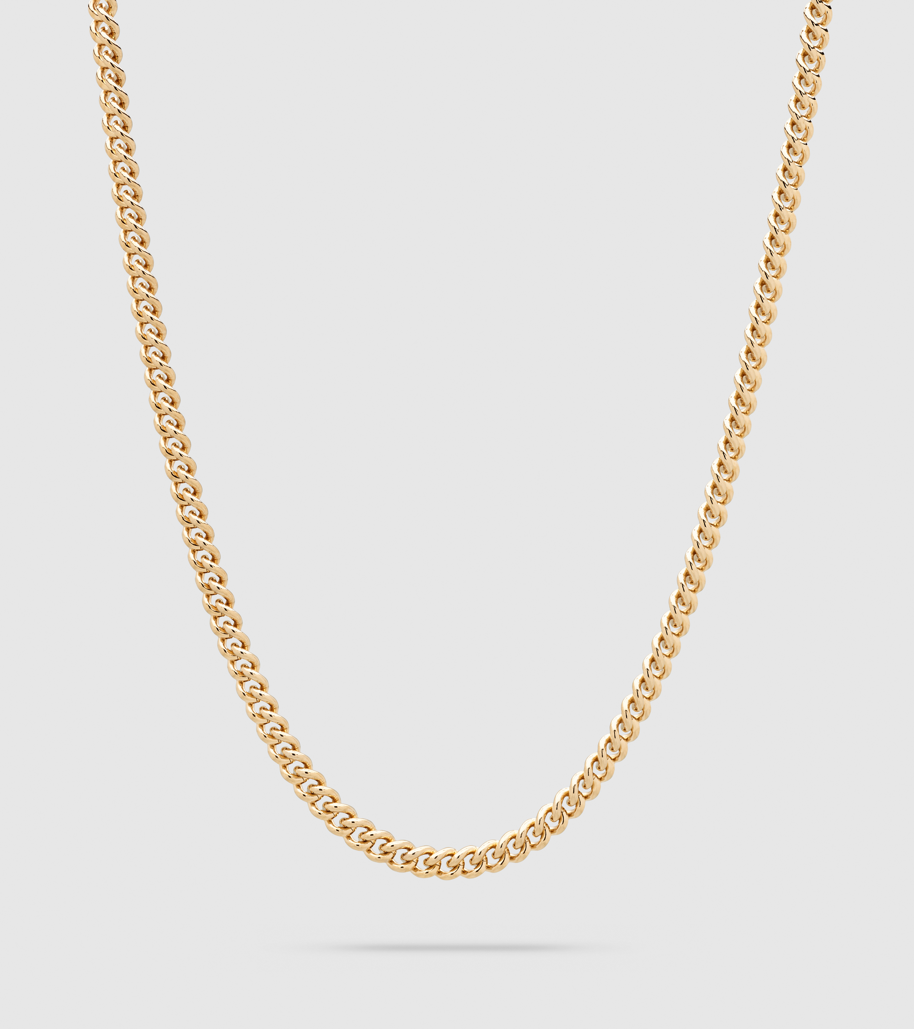 Rounded Curb Chain Thin Gold