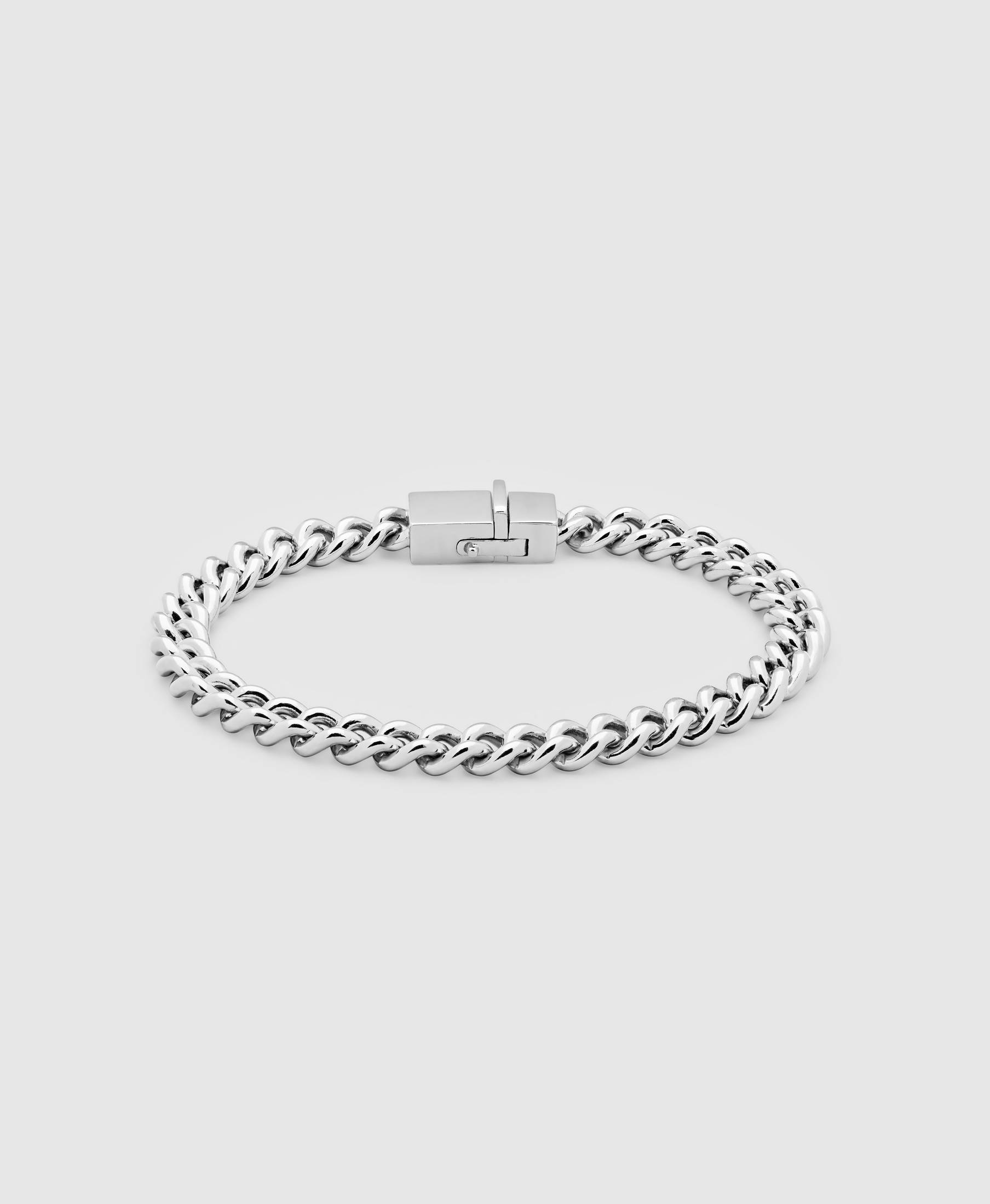 Rounded Curb Bracelet Thick