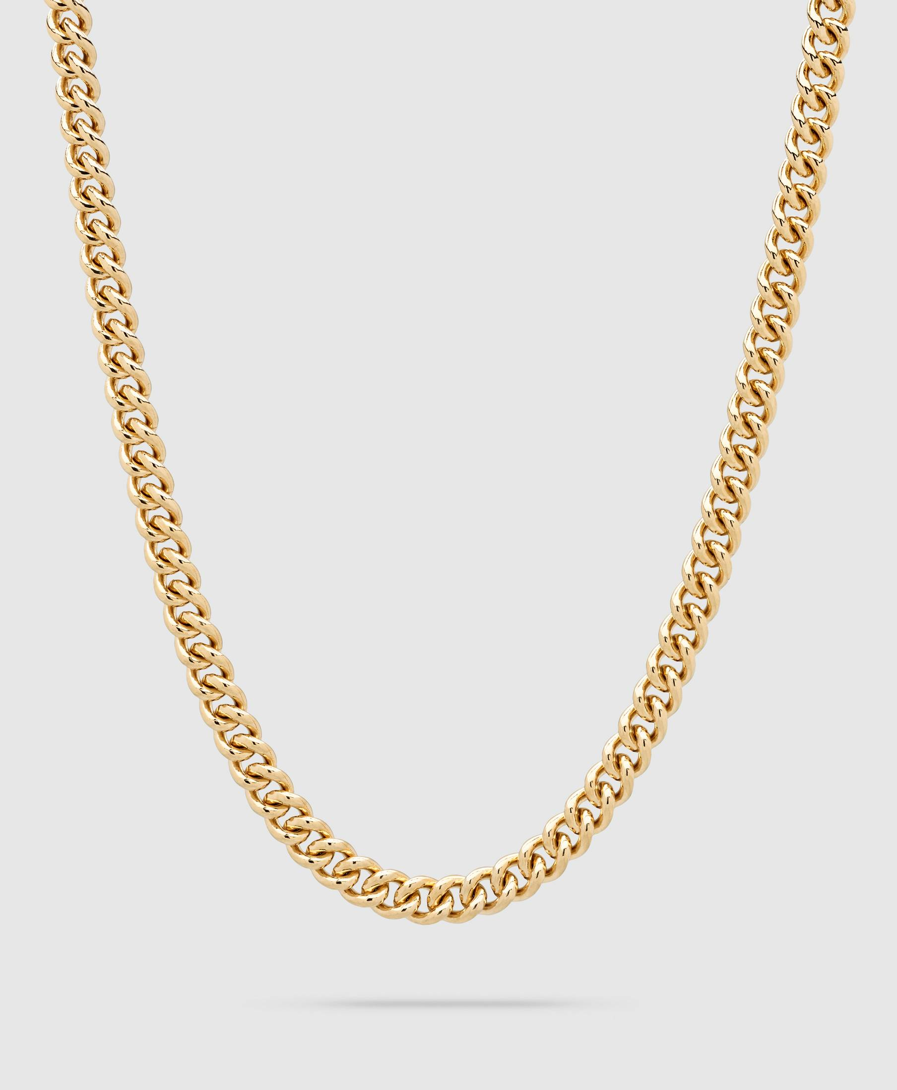 Rounded Curb ChainThick Gold