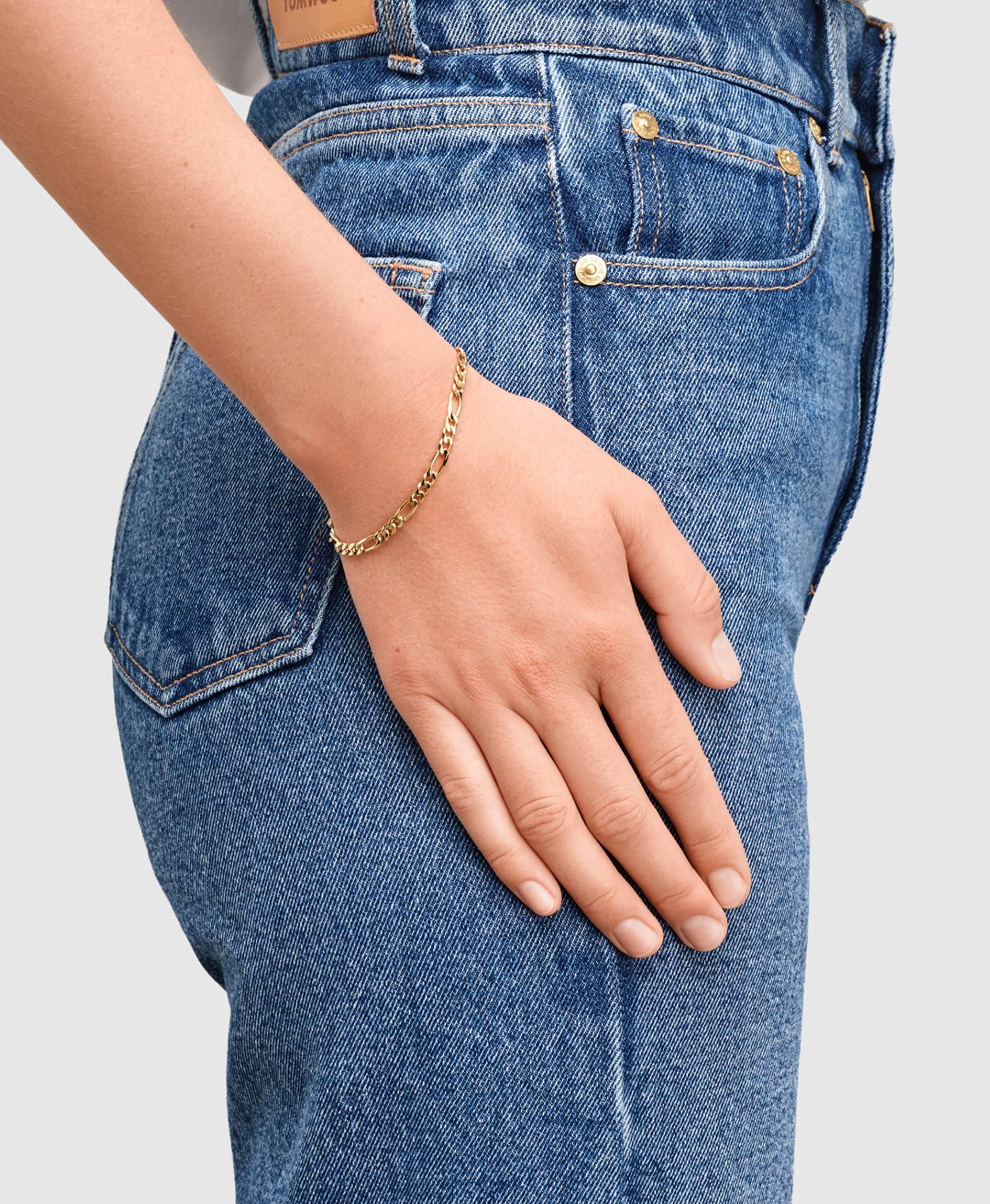 Figaro Bracelet Thick Gold