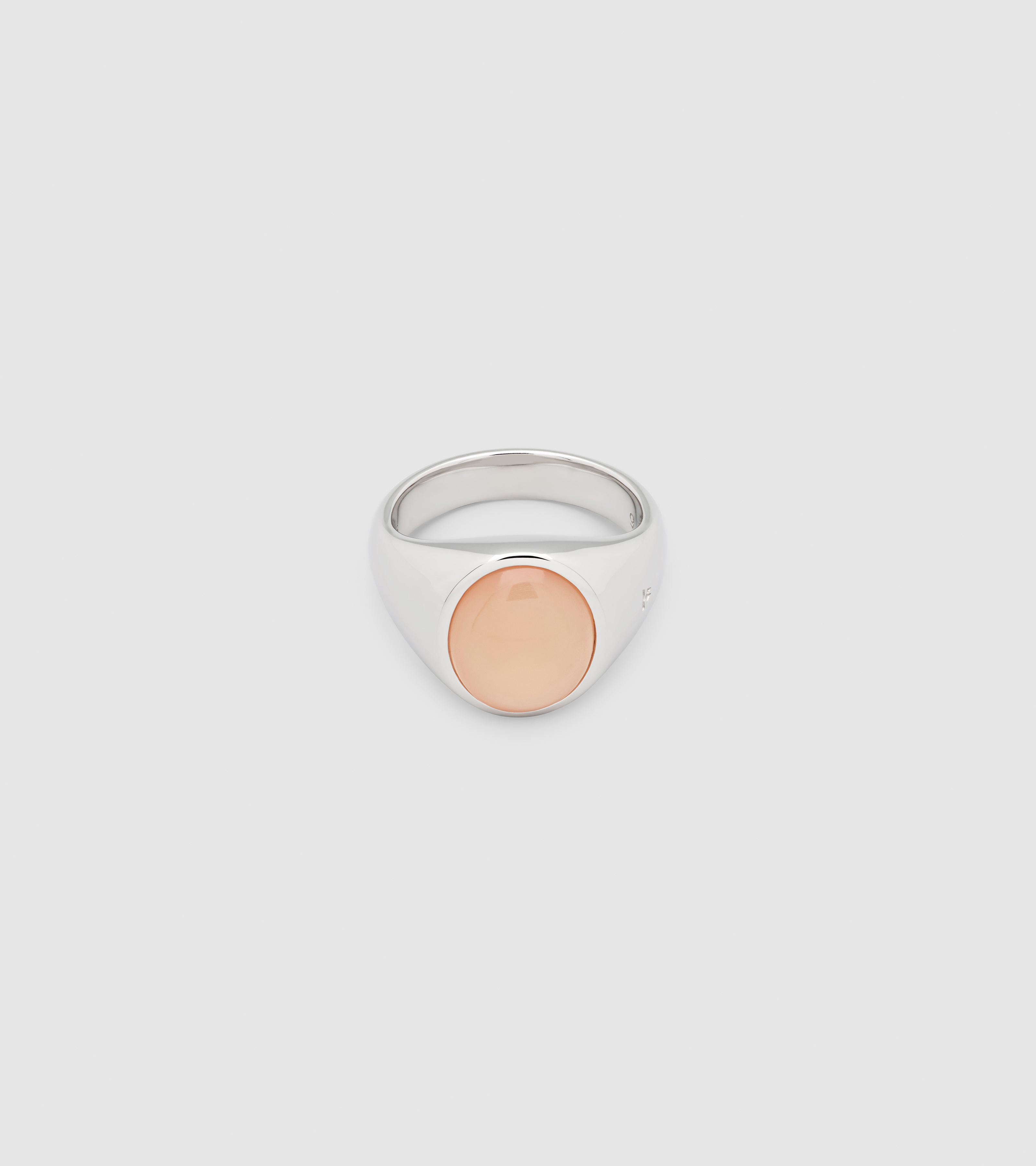 Dome Ring Peach Moonstone