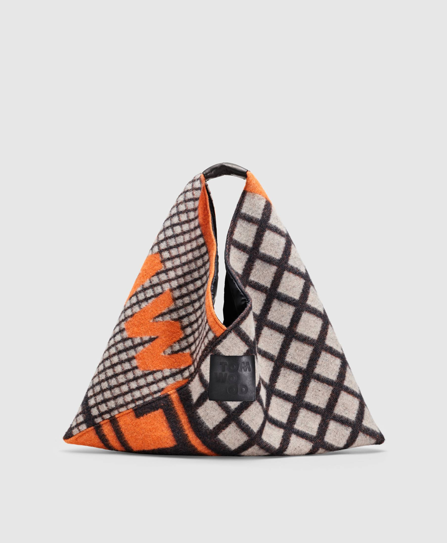 Triangle Bag Logo Print Orange