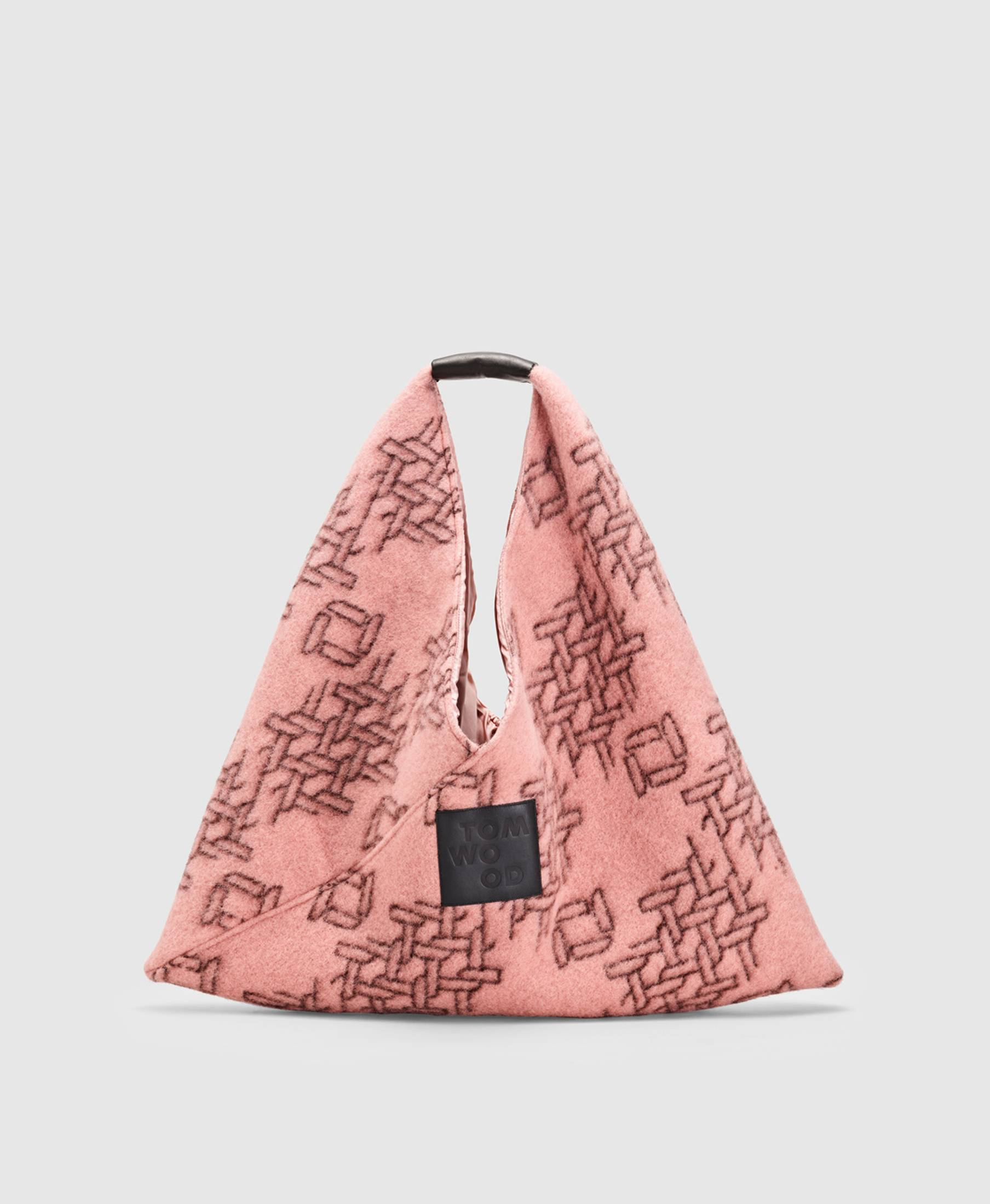 Triangle Bag Brown Pink