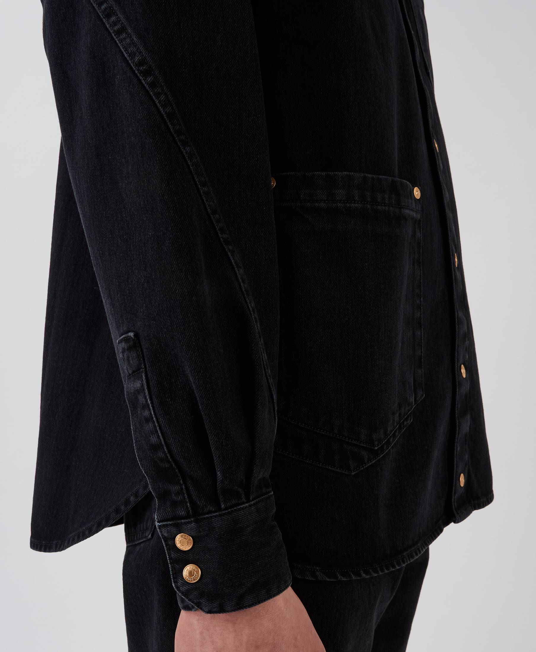 Coby Denim Shirt Used Black