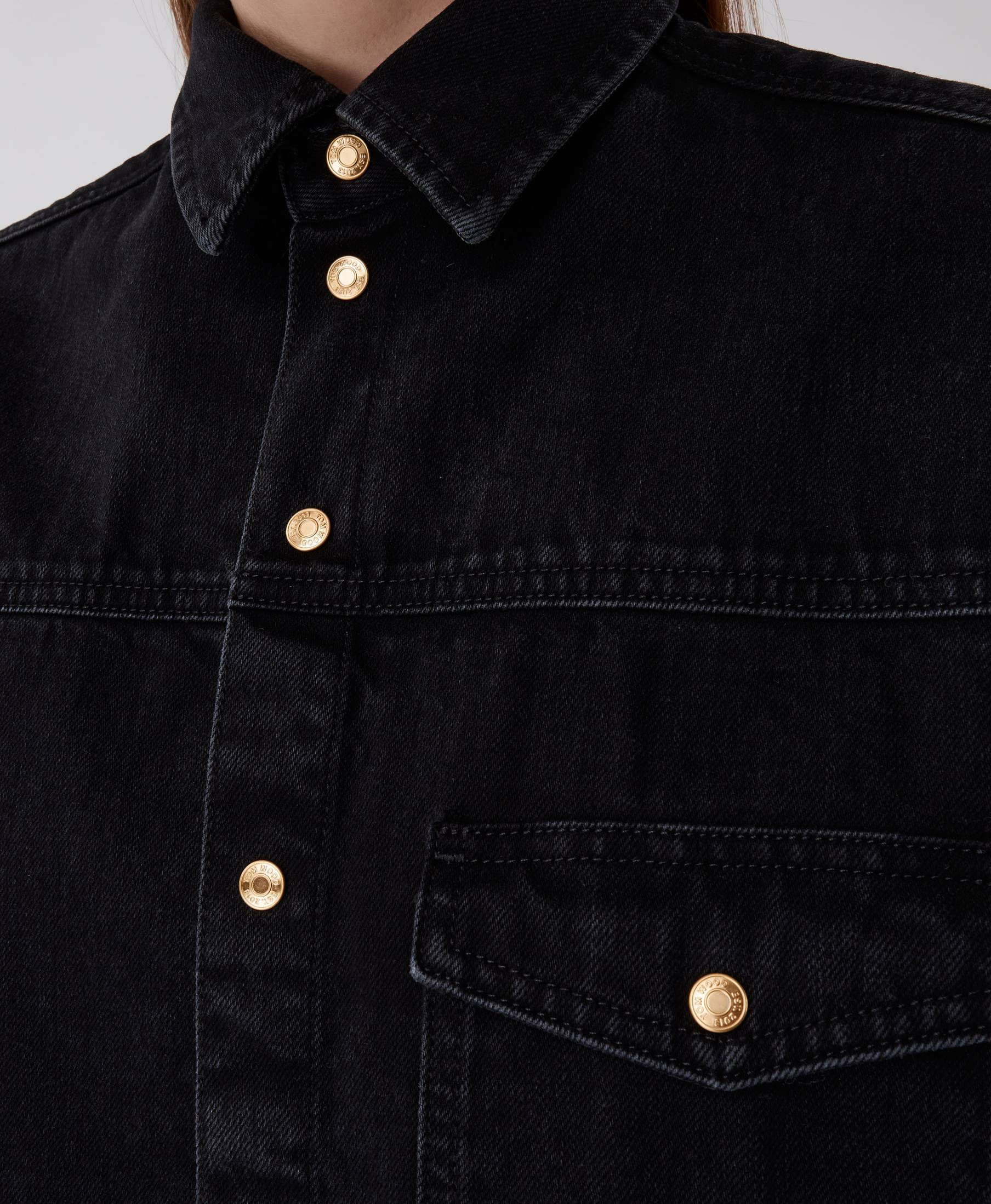 Stella Denim Shirt Used Black