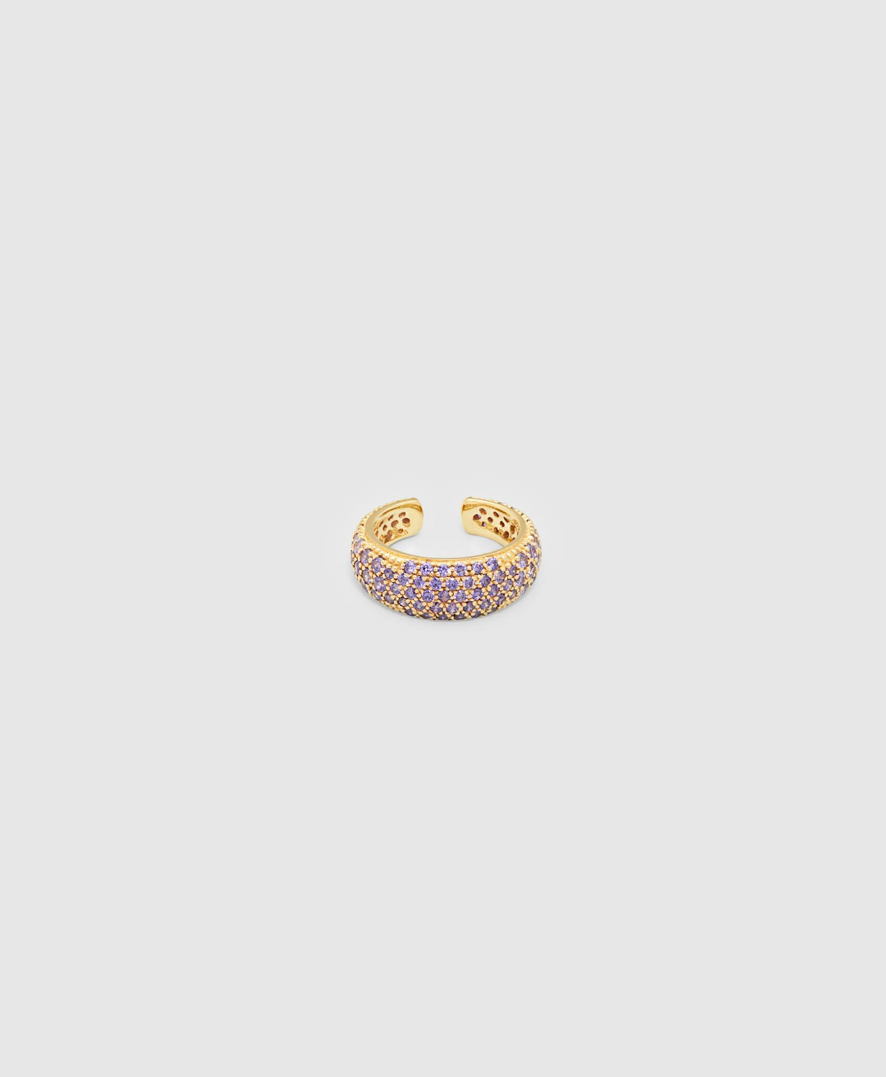 Ear Cuff Thick Violet Gold