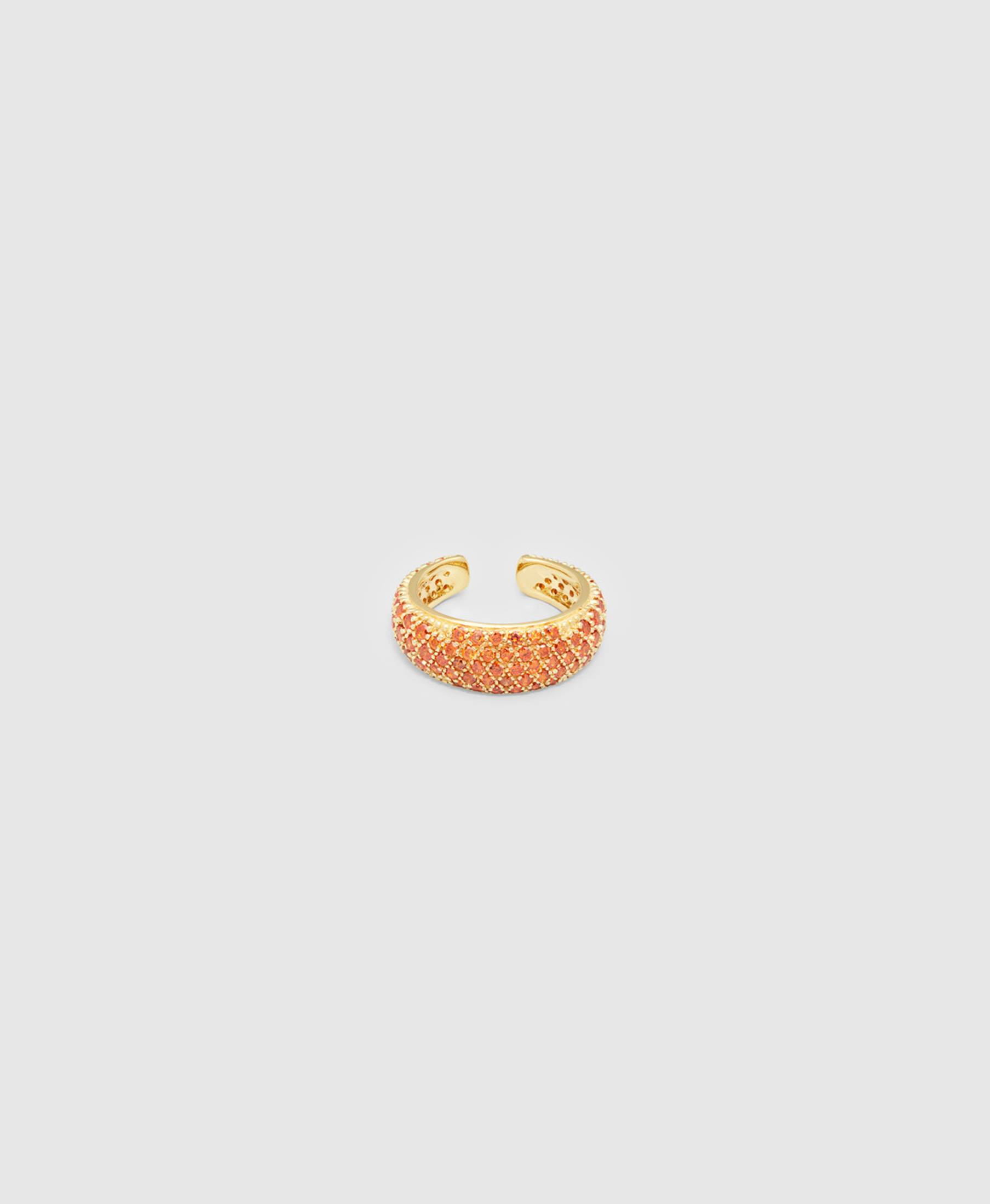 Ear Cuff Thick Orange Gold