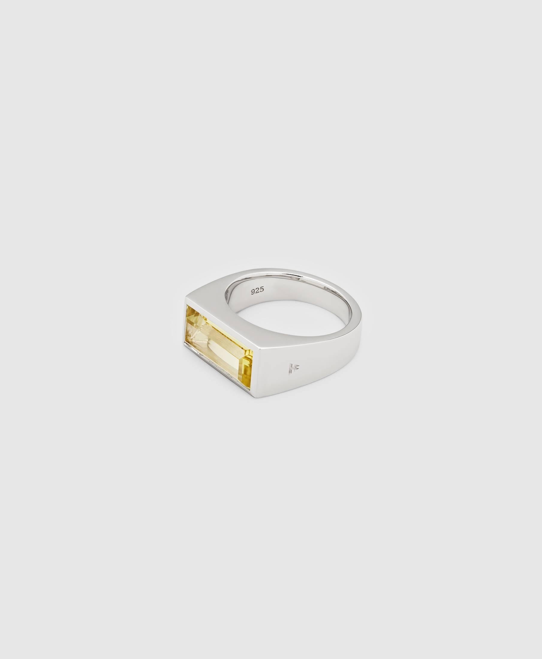 Peaky Ring Lemon Quartz