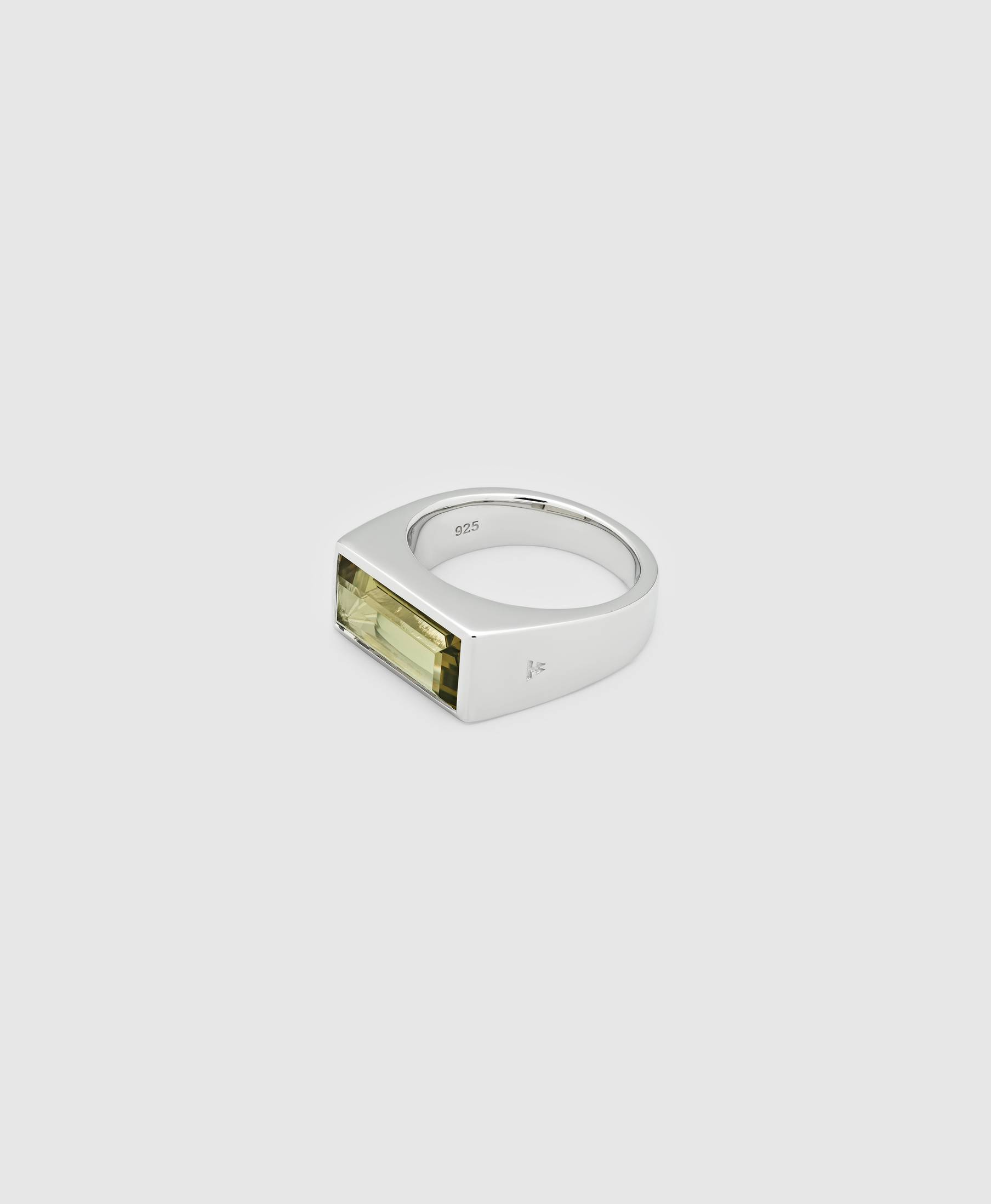 Peaky Ring Olive Quartz