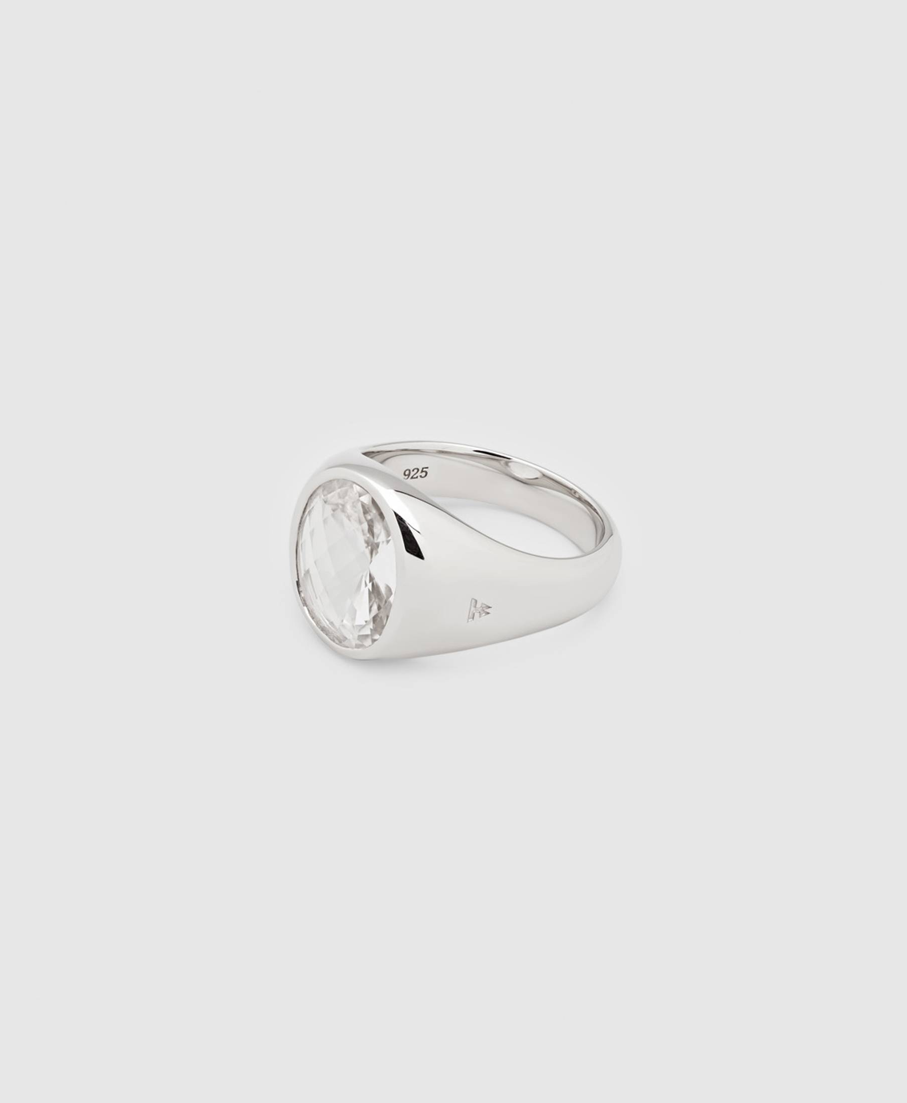 Dome Ring Rock Crystal