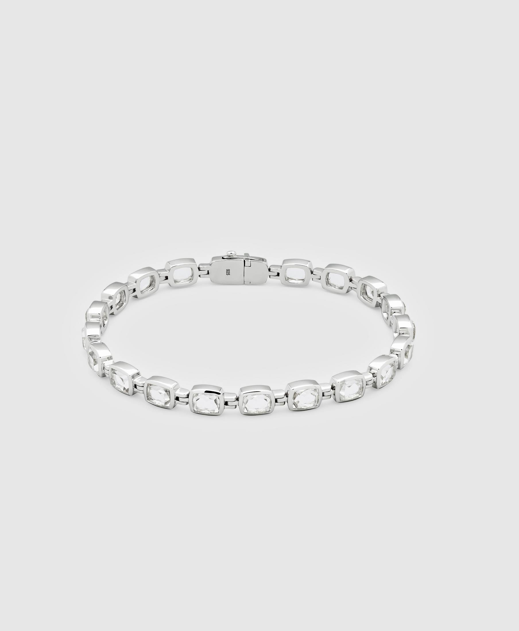 Cushion Bracelet Rock Crystal