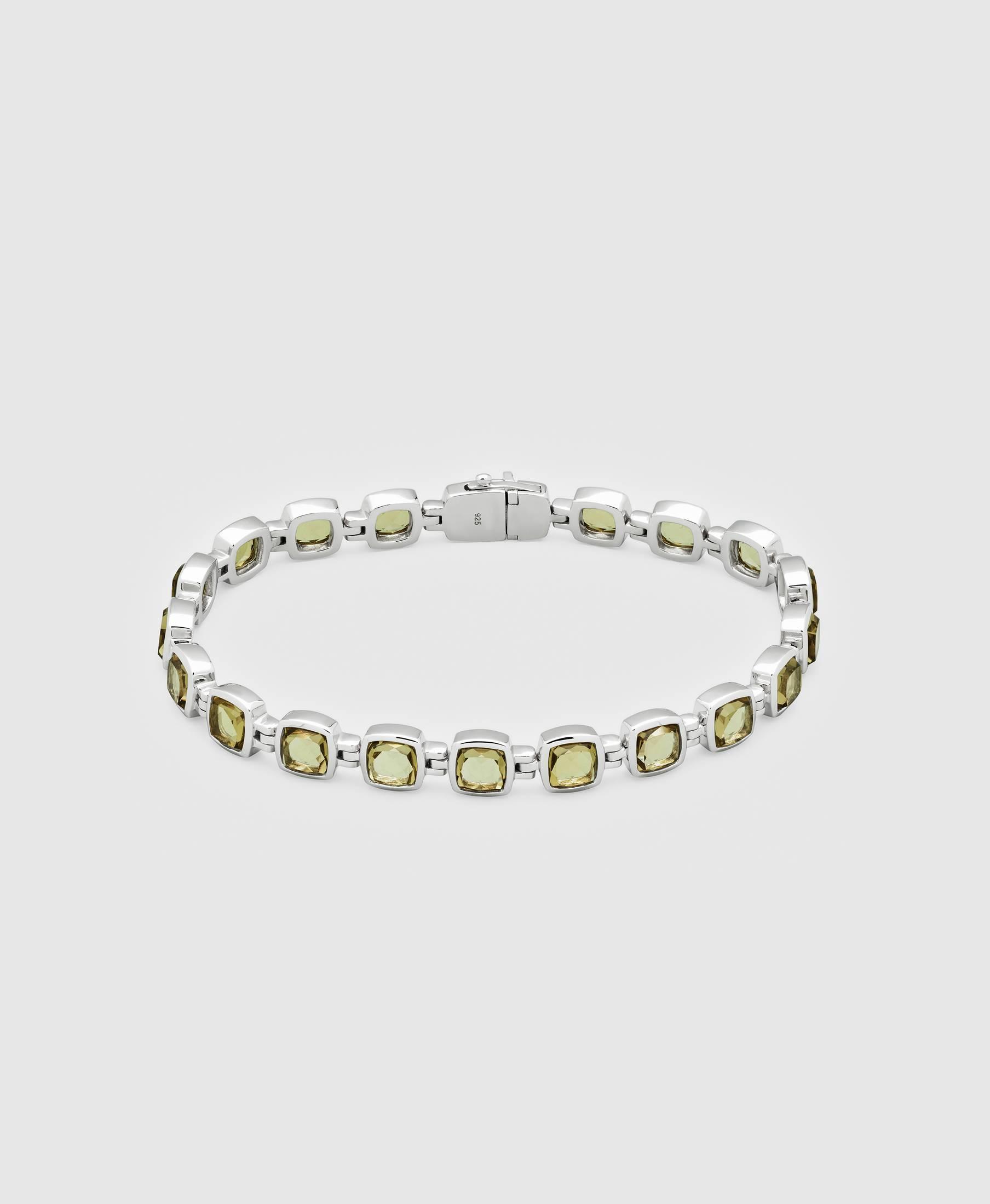 Cushion Bracelet Olive Quartz