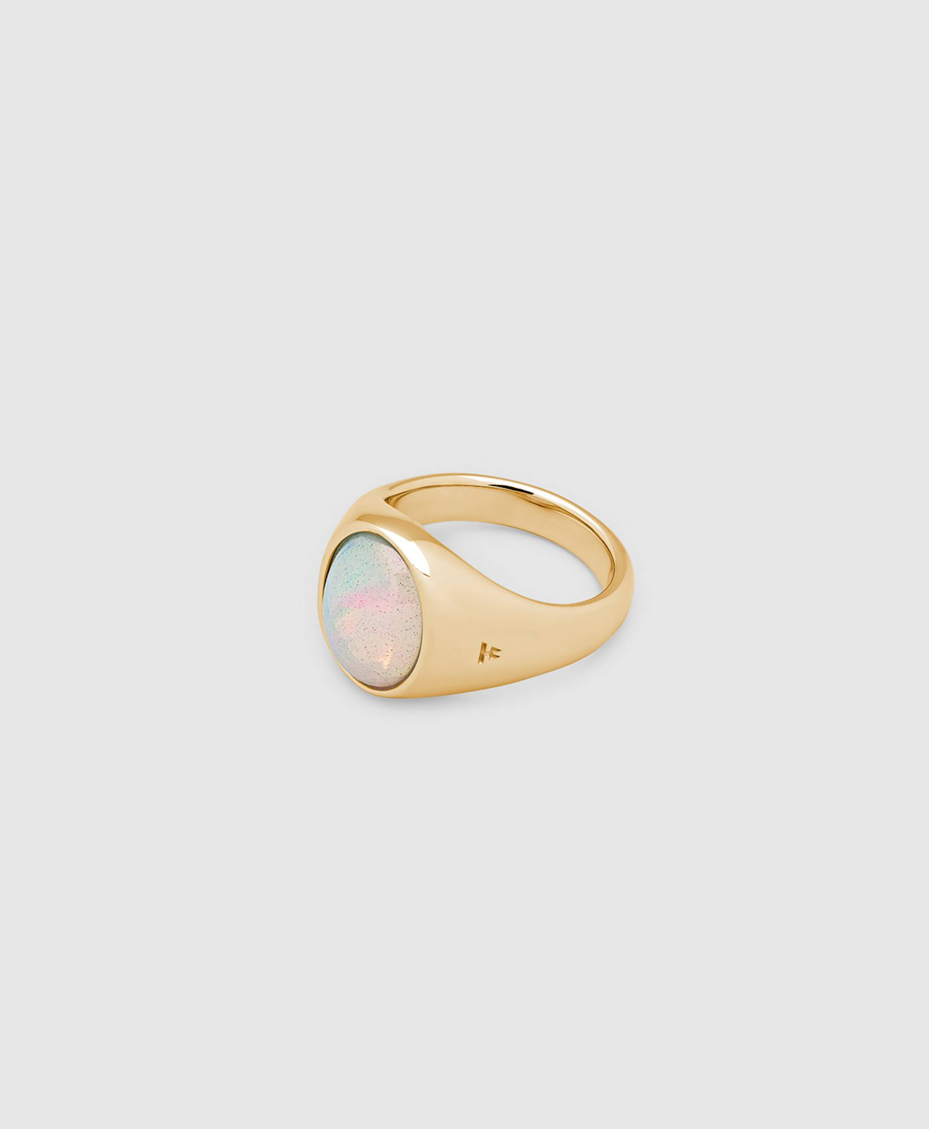 Dome Ring OpalGold