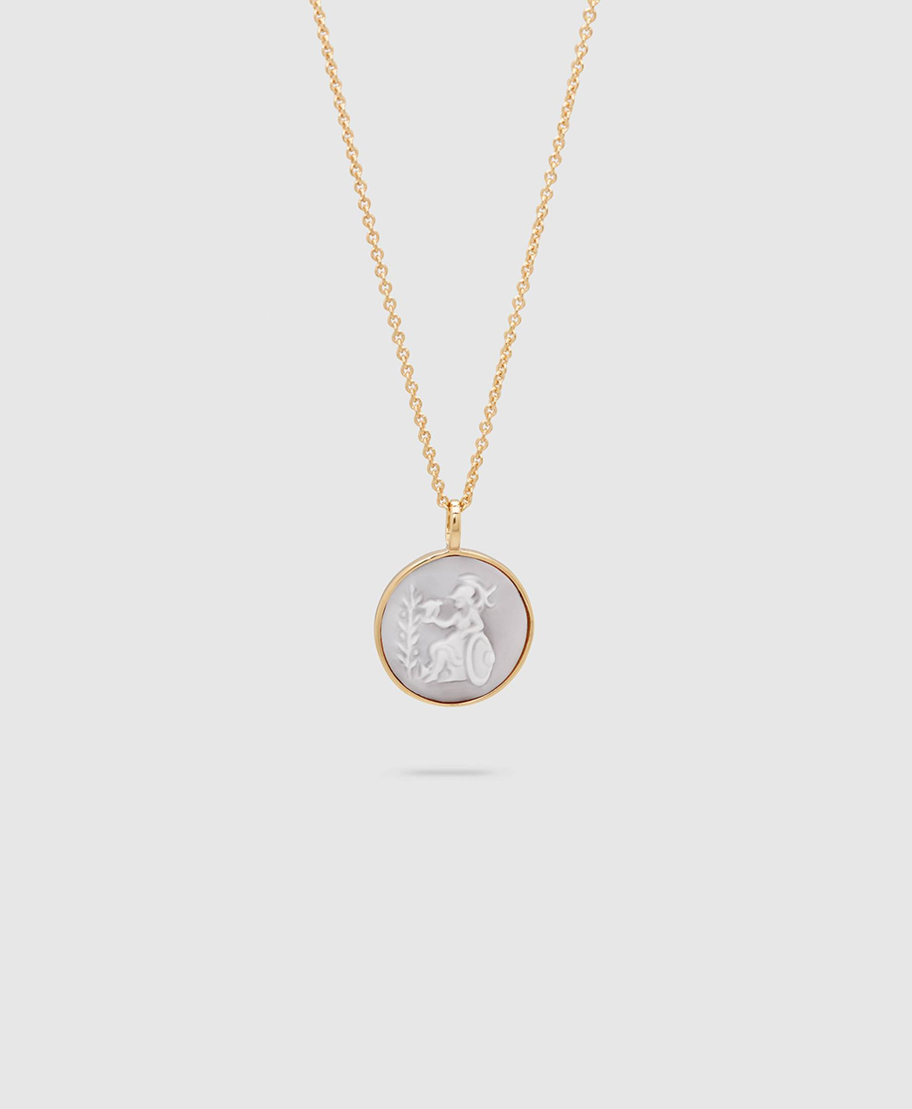 Cameo Athena Pendant S Gold