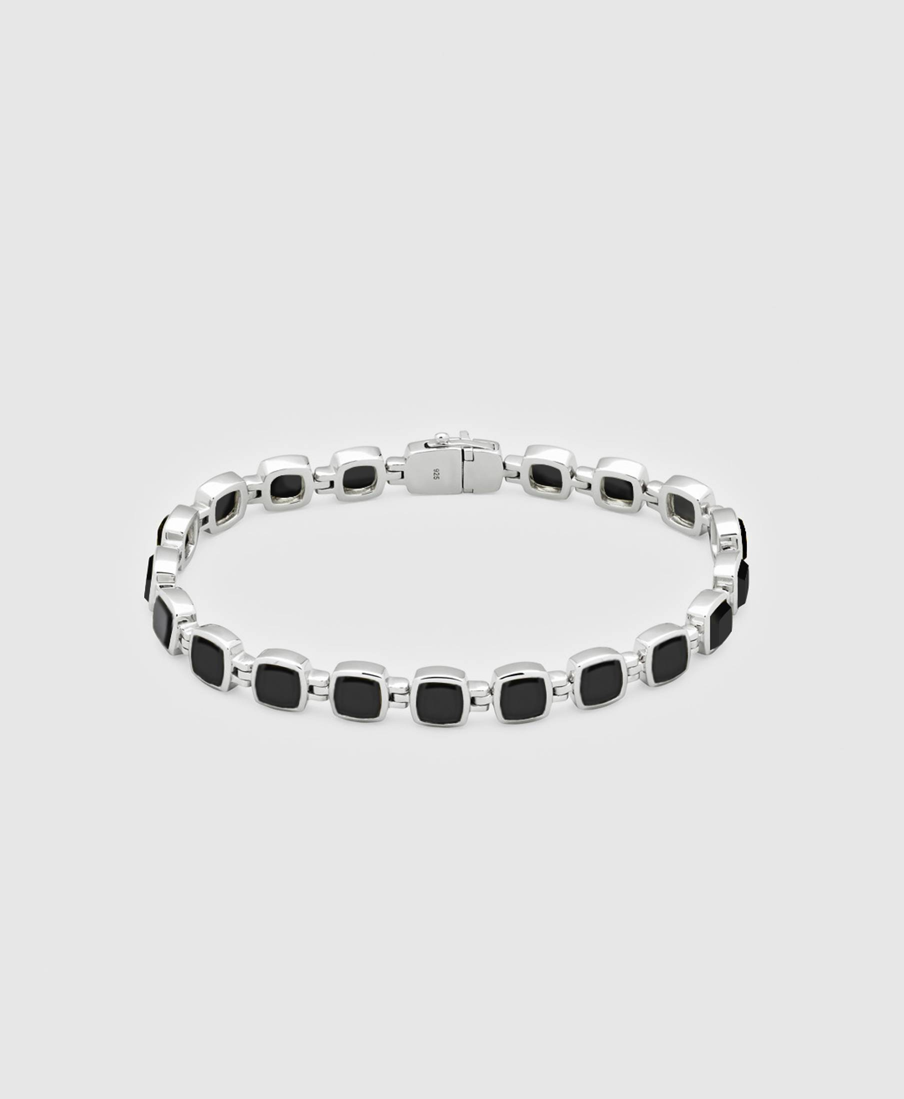 Cushion Bracelet Polished Onyx