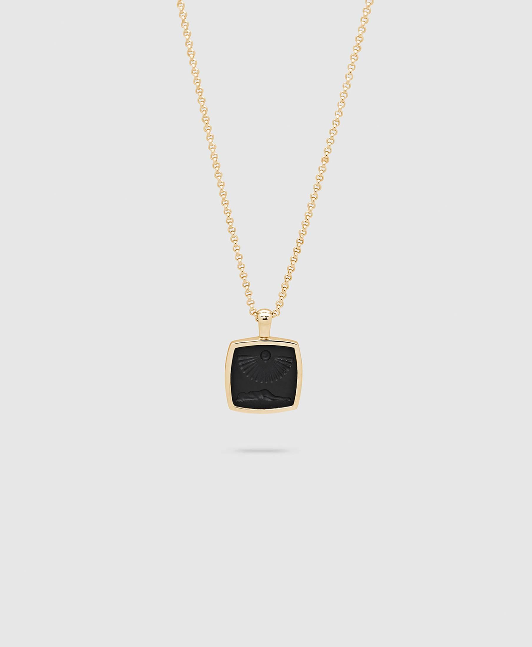 Clytia Cushion Pendant Gold