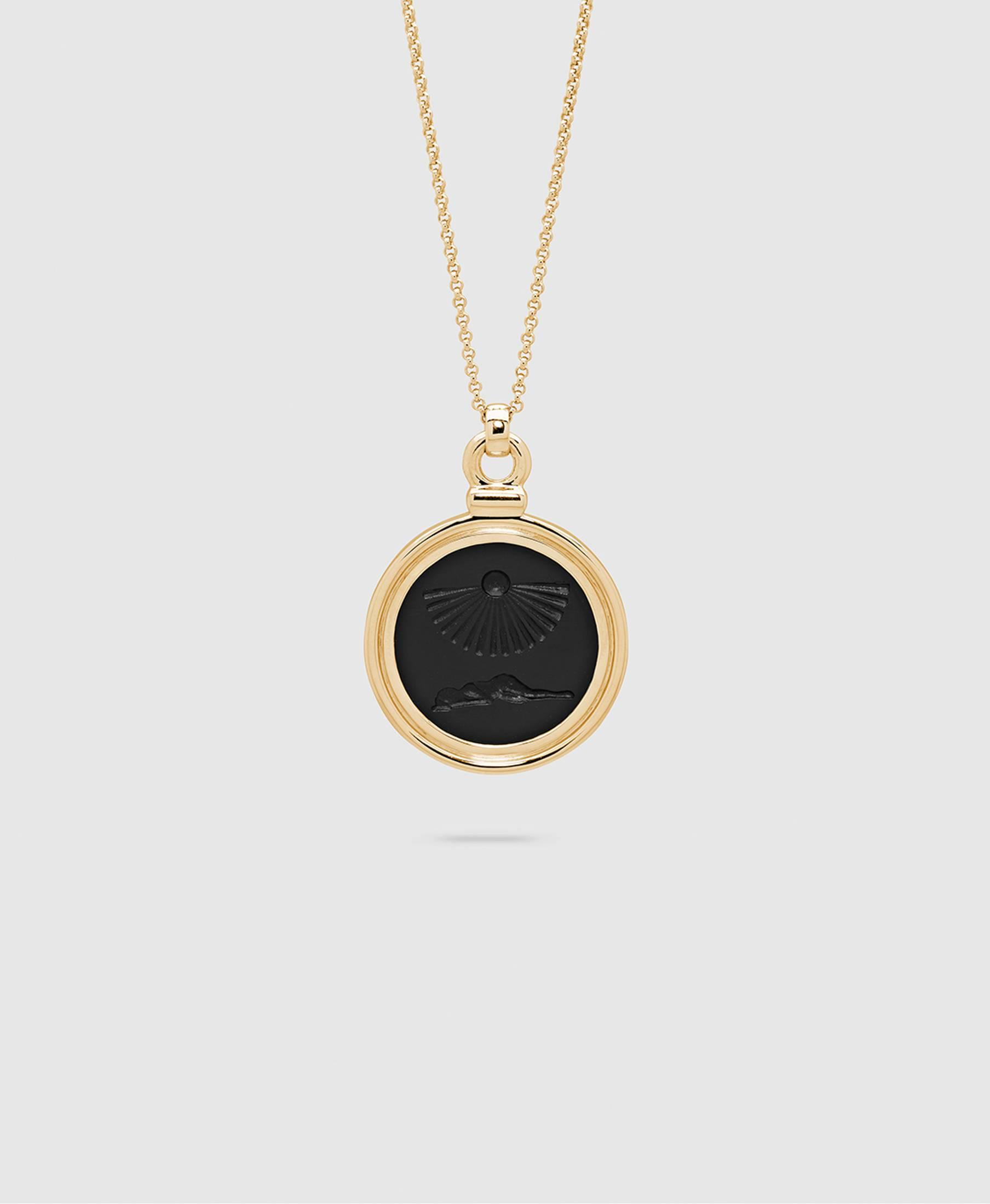 Clytia Onyx Pendant L Gold