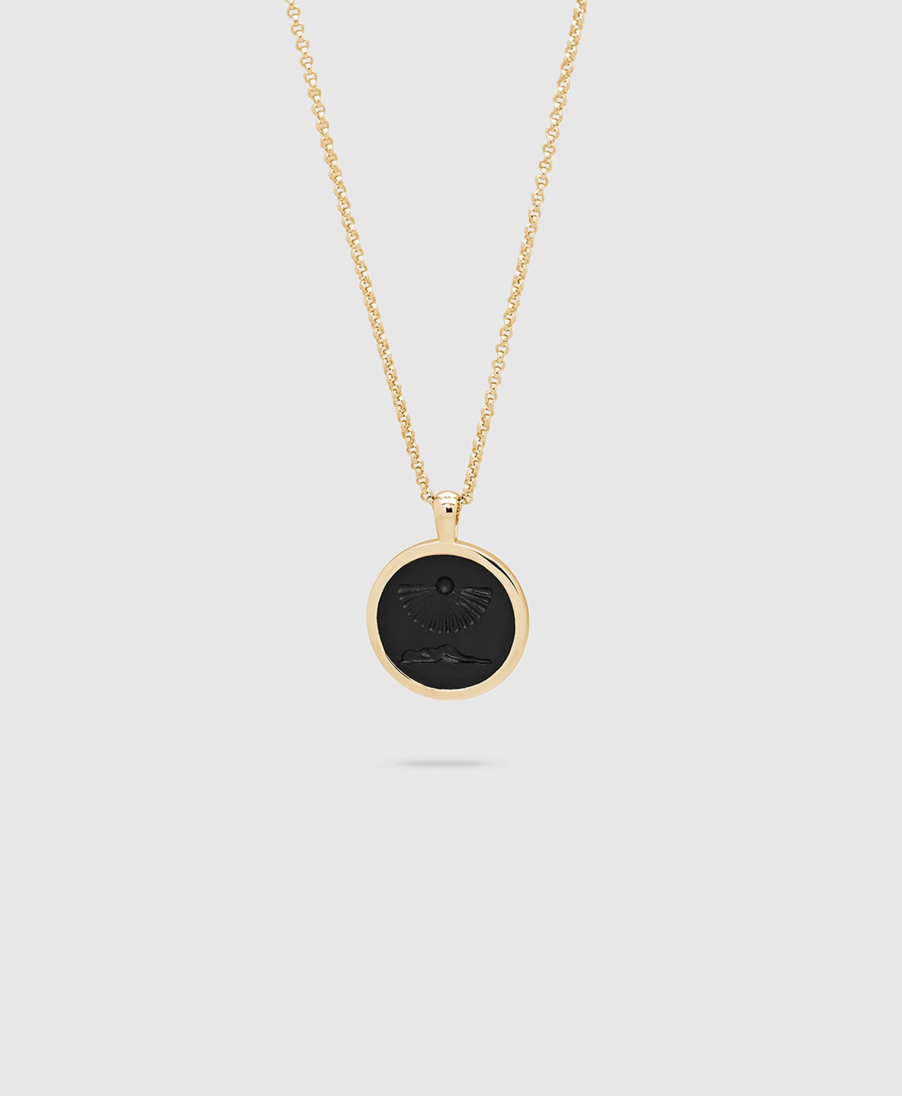 Clytia Onyx Pendant S Gold