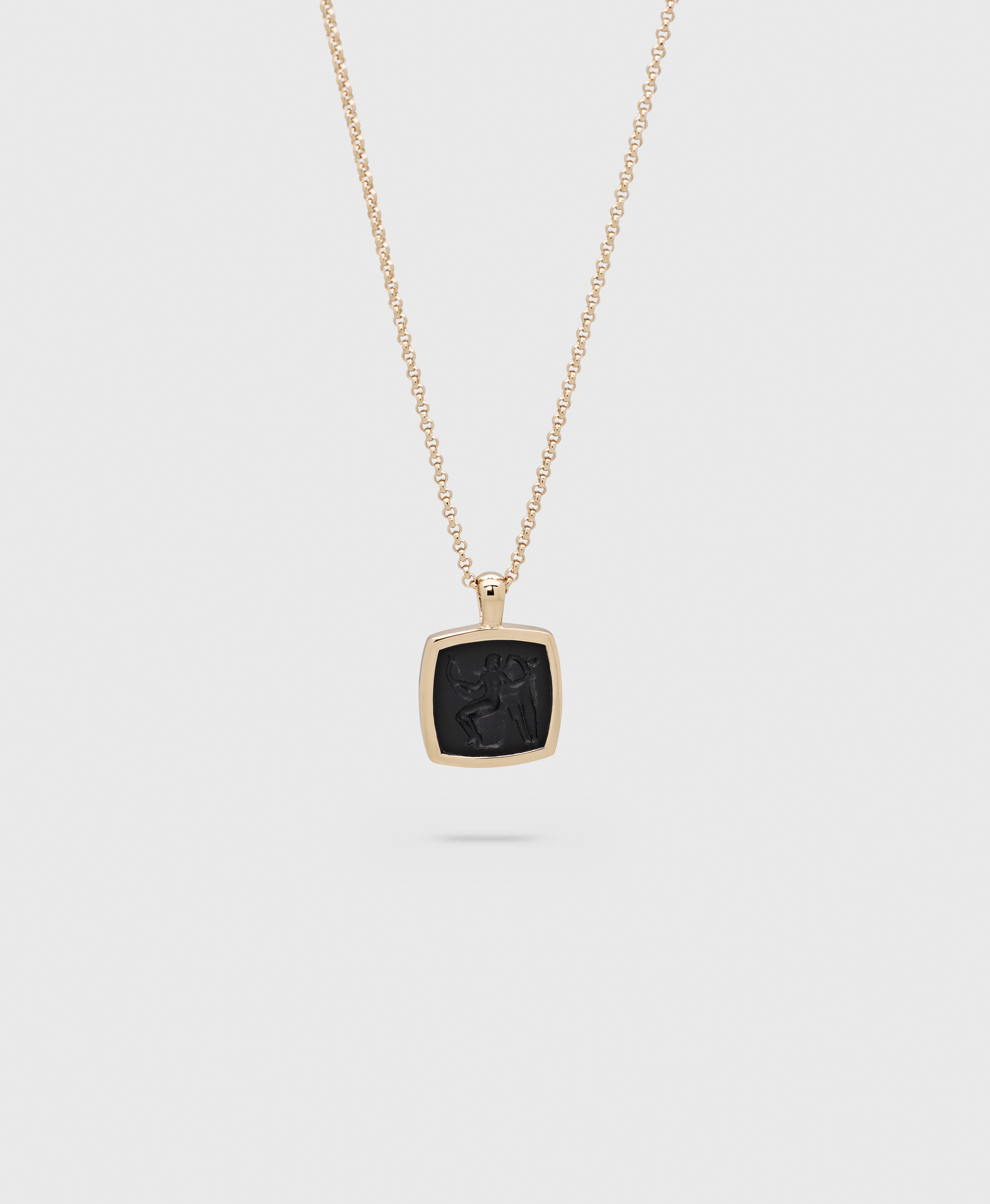 Eros Cushion Pendant Gold