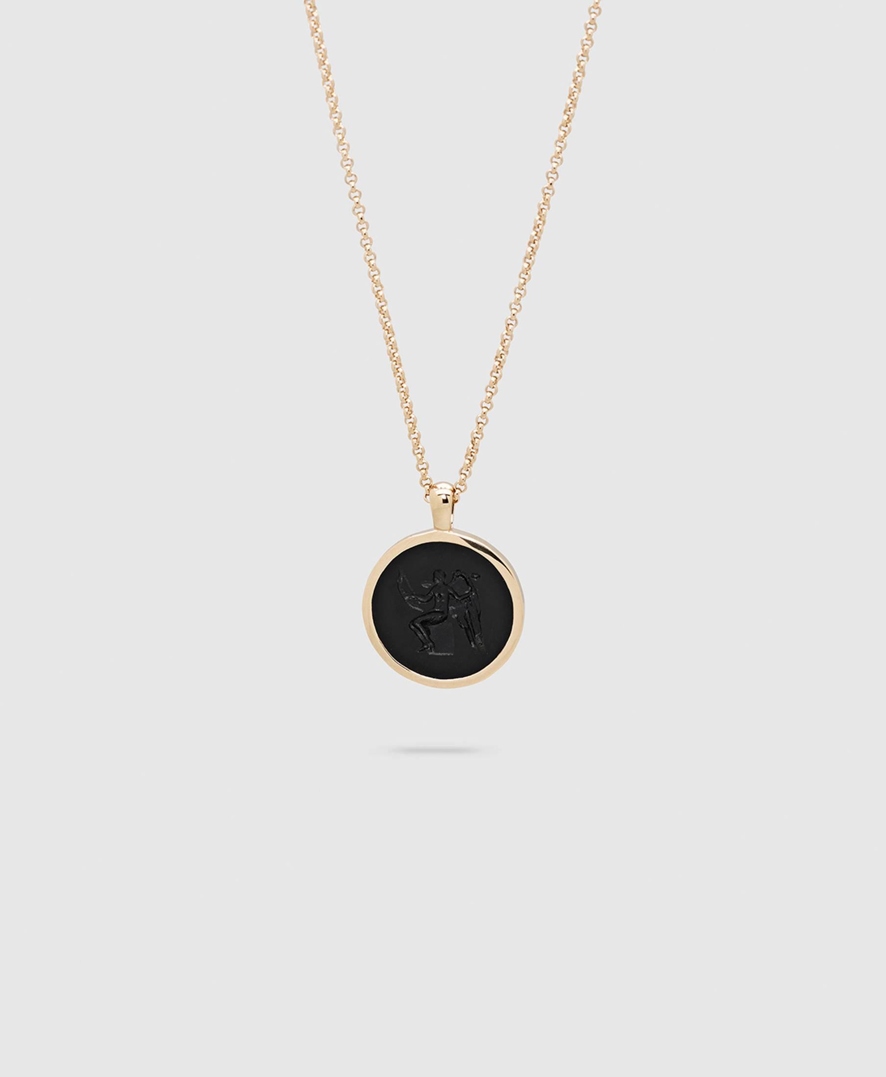 Eros Onyx Pendant S Gold