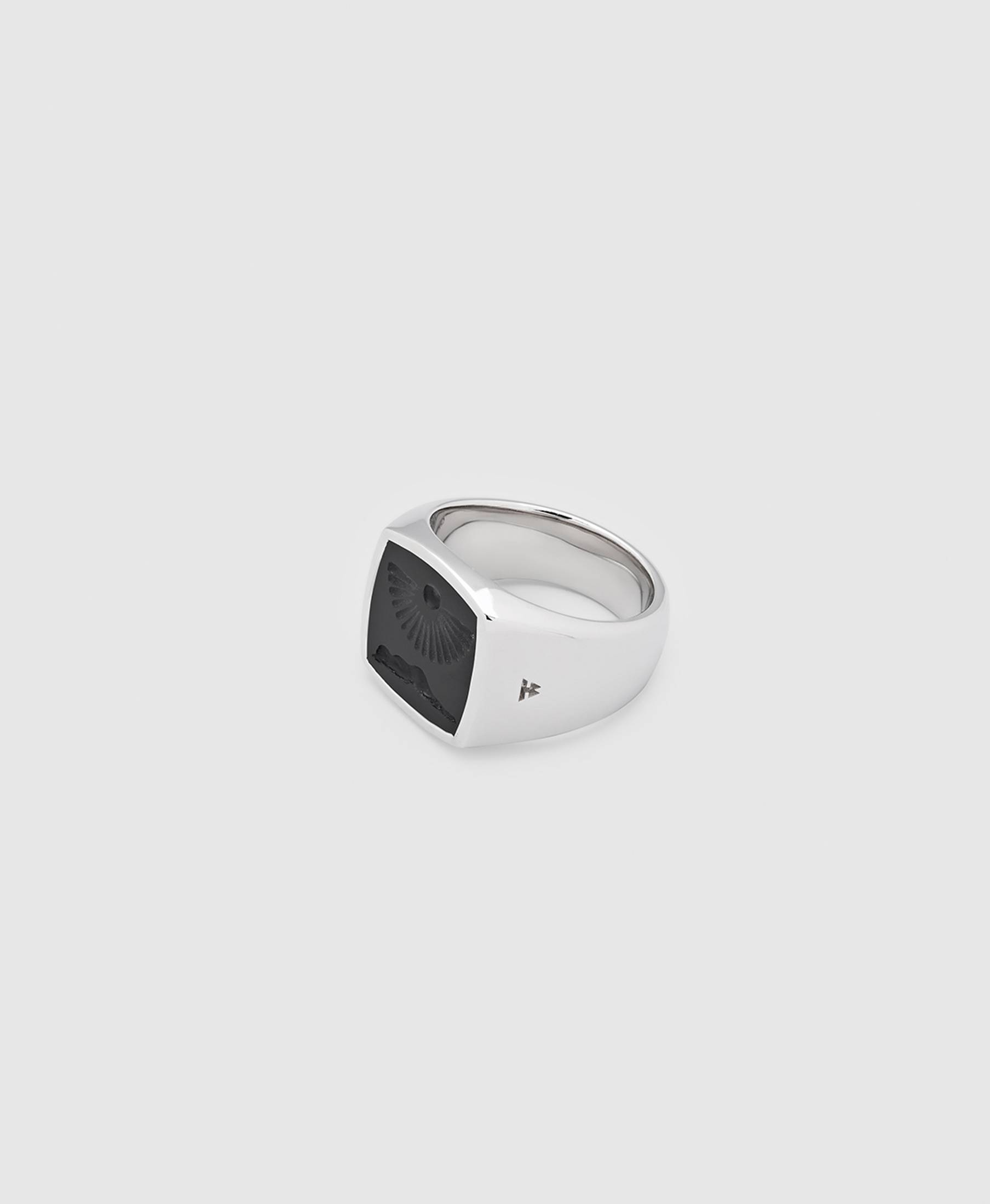 Cushion Clytia Onyx Ring