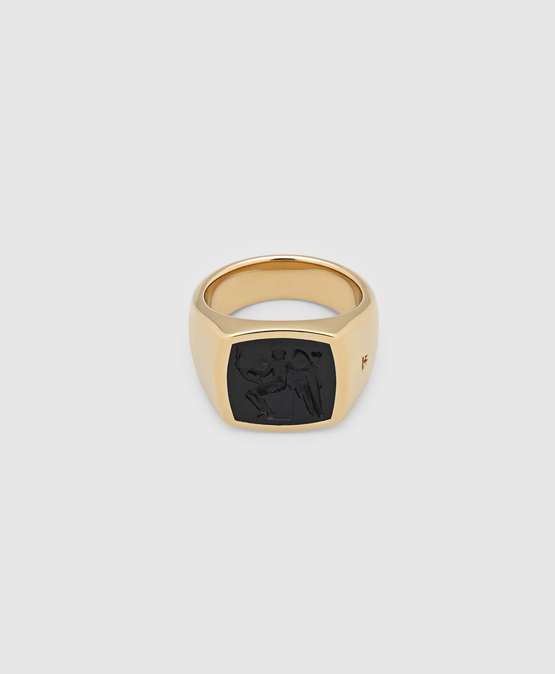 Cushion Eros Onyx Ring Gold